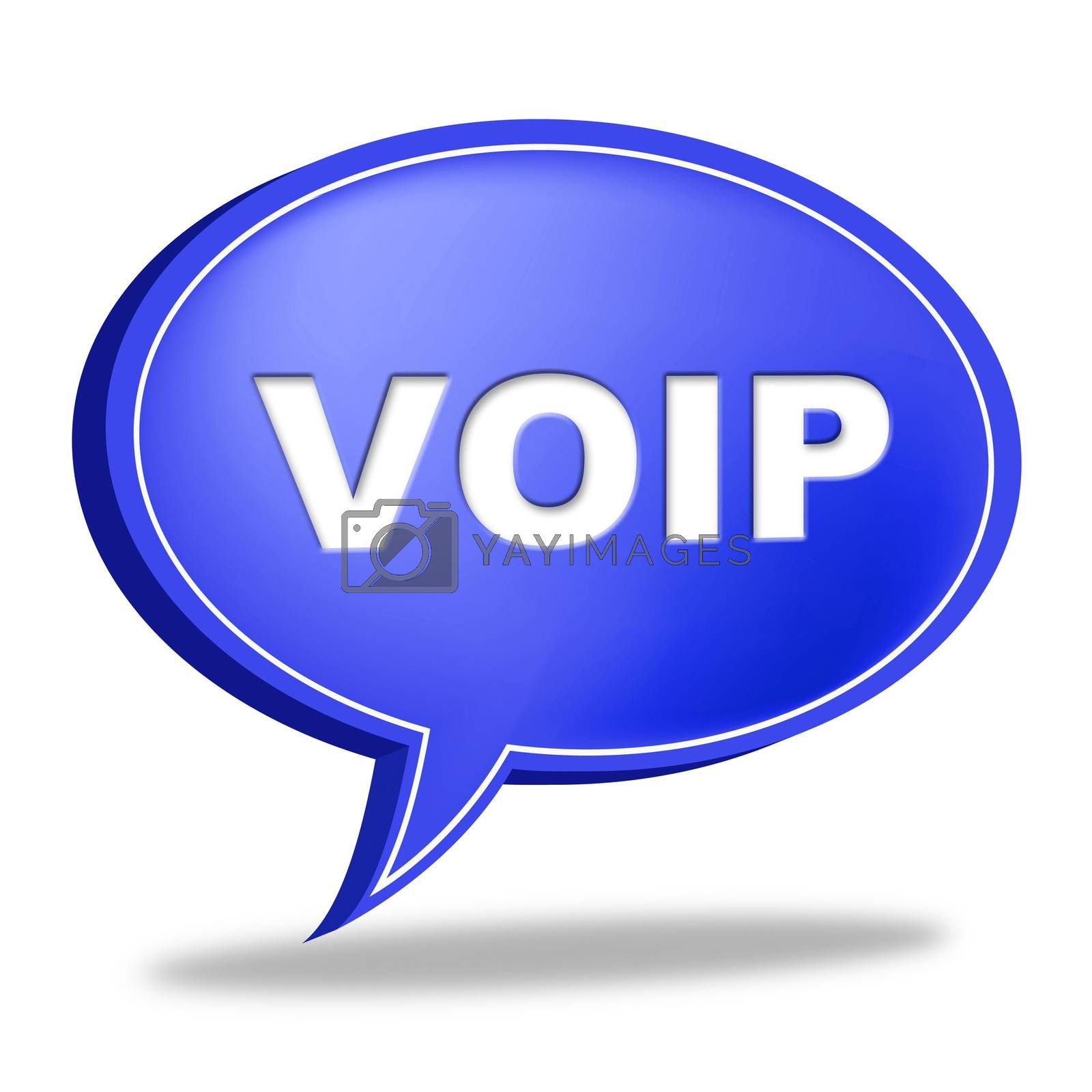 Voip Speech Bubble Means Voice Over Broadband And Online by stuartmiles