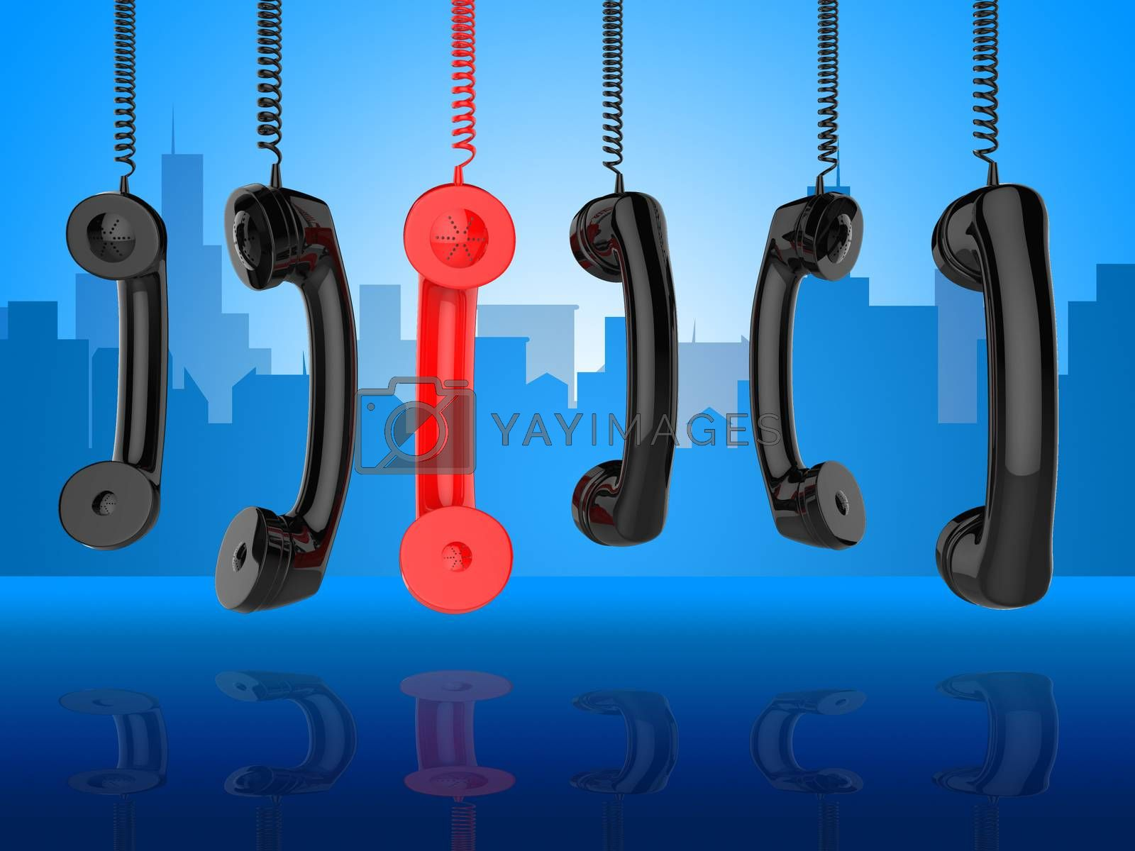 Contact Us Shows Phone Call And Advice by stuartmiles