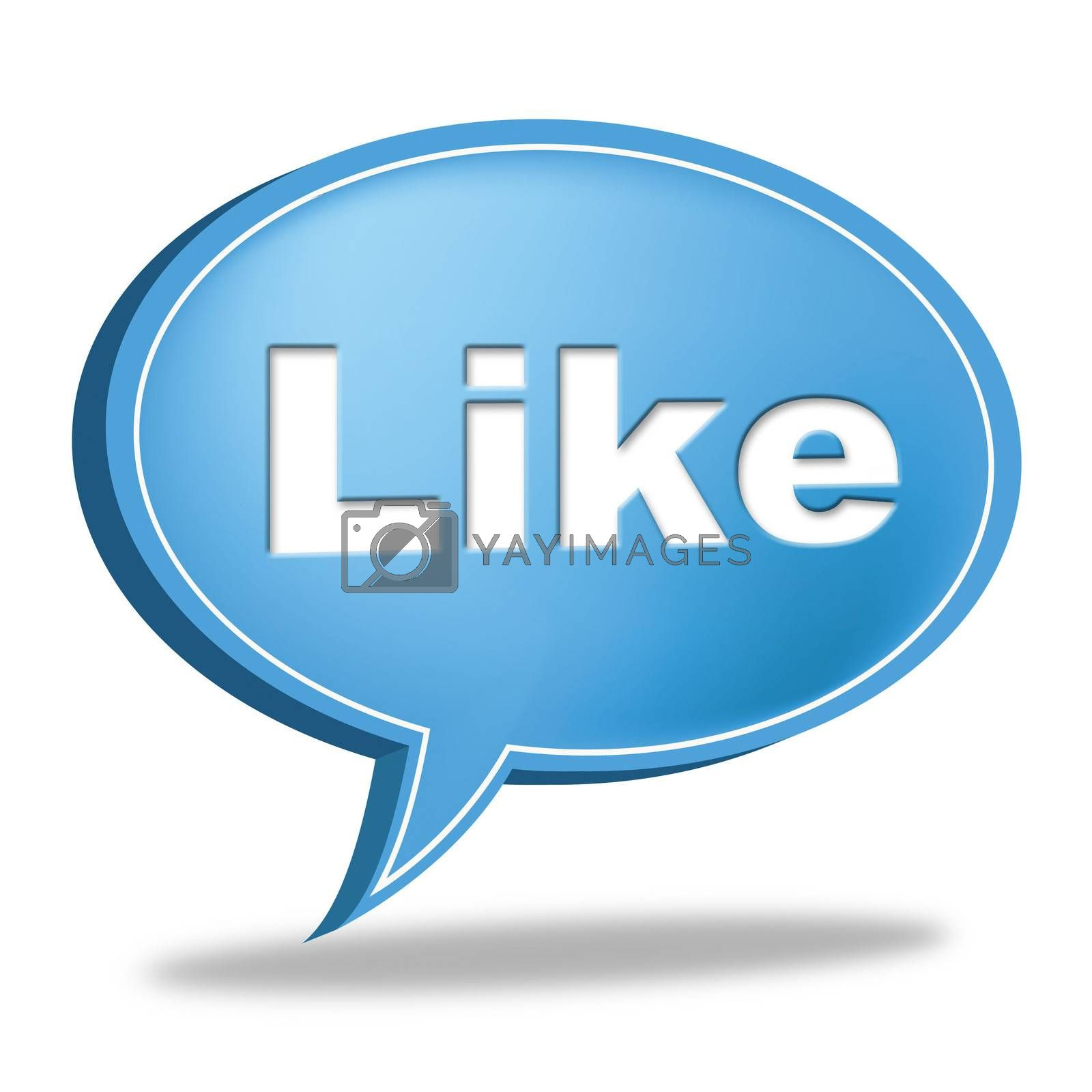 Like Message Indicates Social Media And Communication by stuartmiles