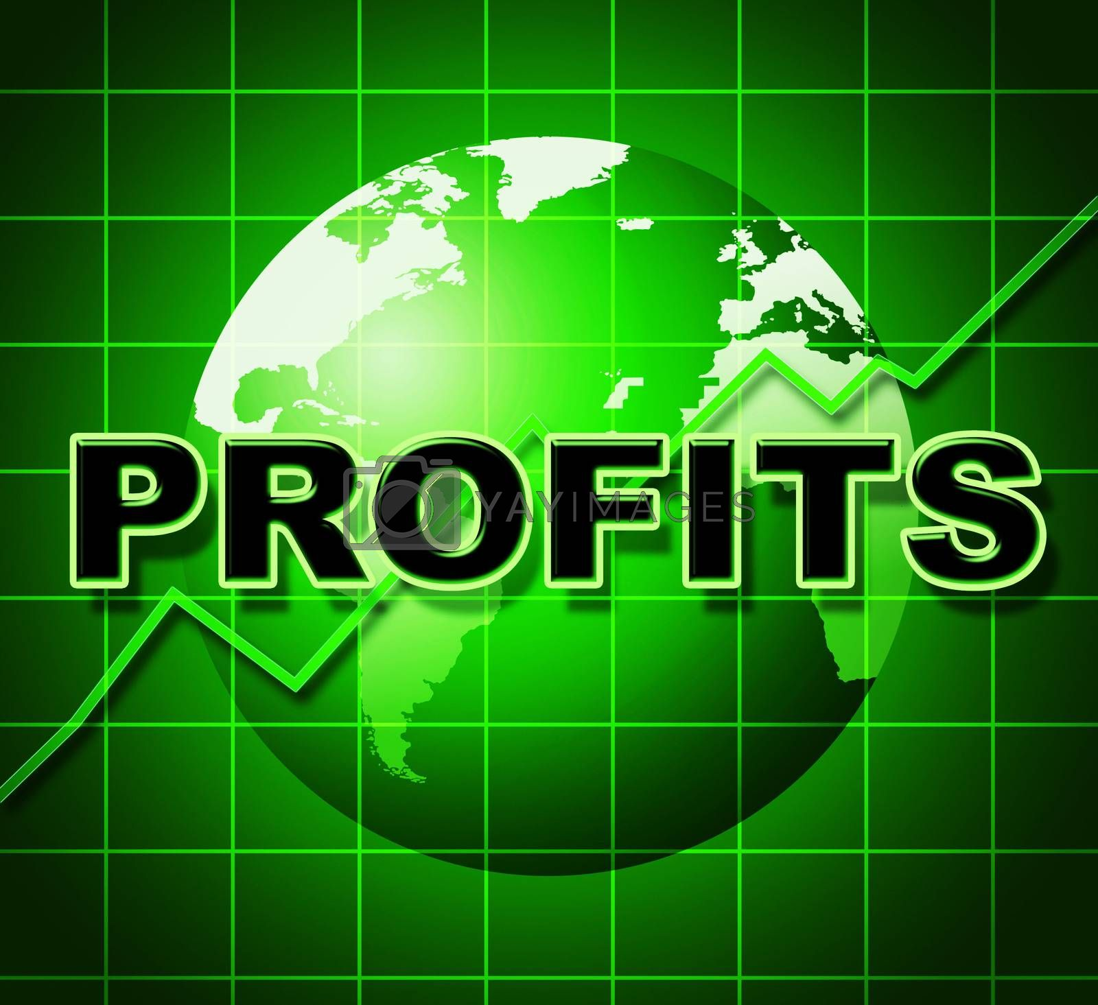 Profits Graph Shows Earn Investment And Diagram by stuartmiles