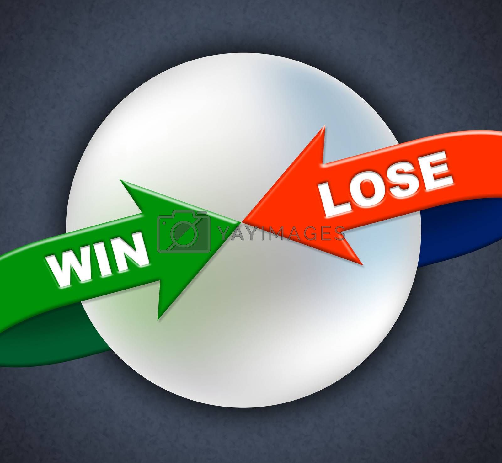Win Lose Arrows Shows Victory Success And Failing by stuartmiles