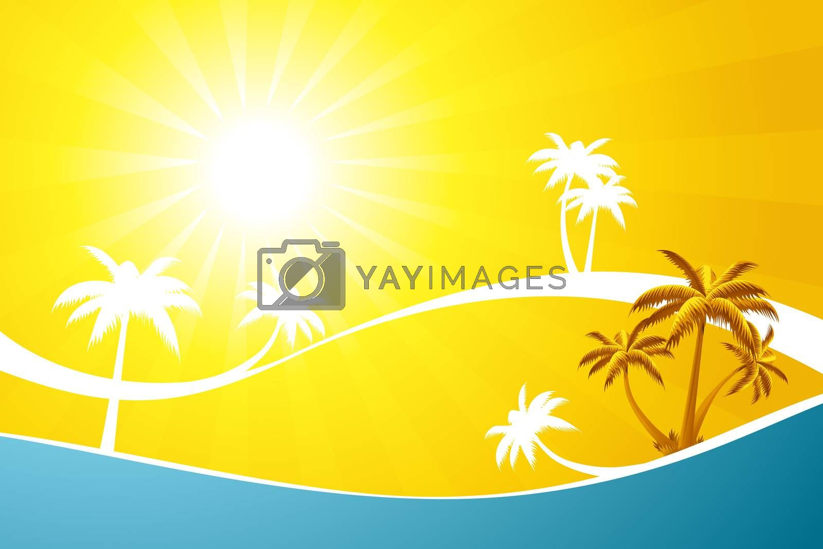 Abstract Tropical background by WaD