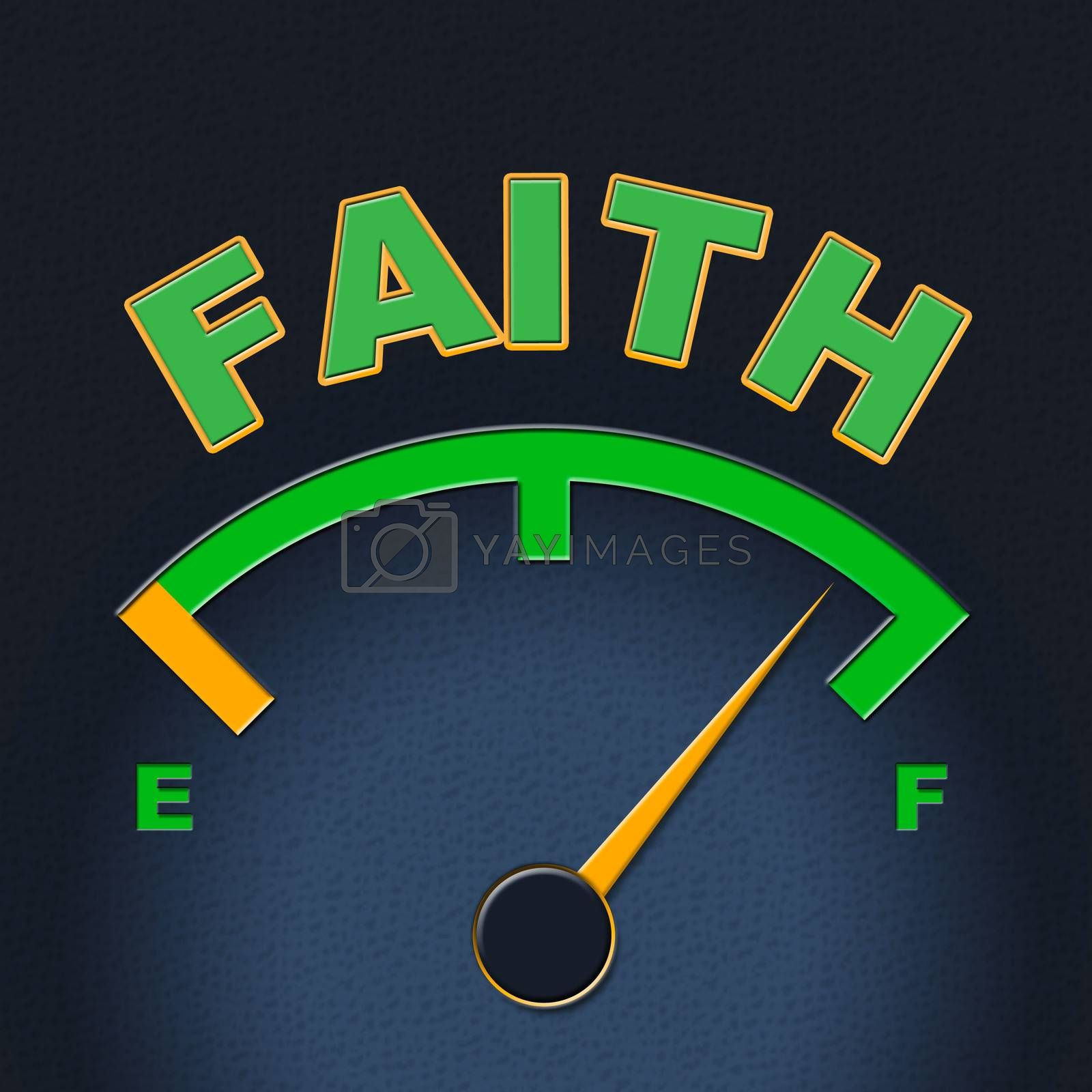 Faith Gauge Shows Scale Religious And Indicator by stuartmiles