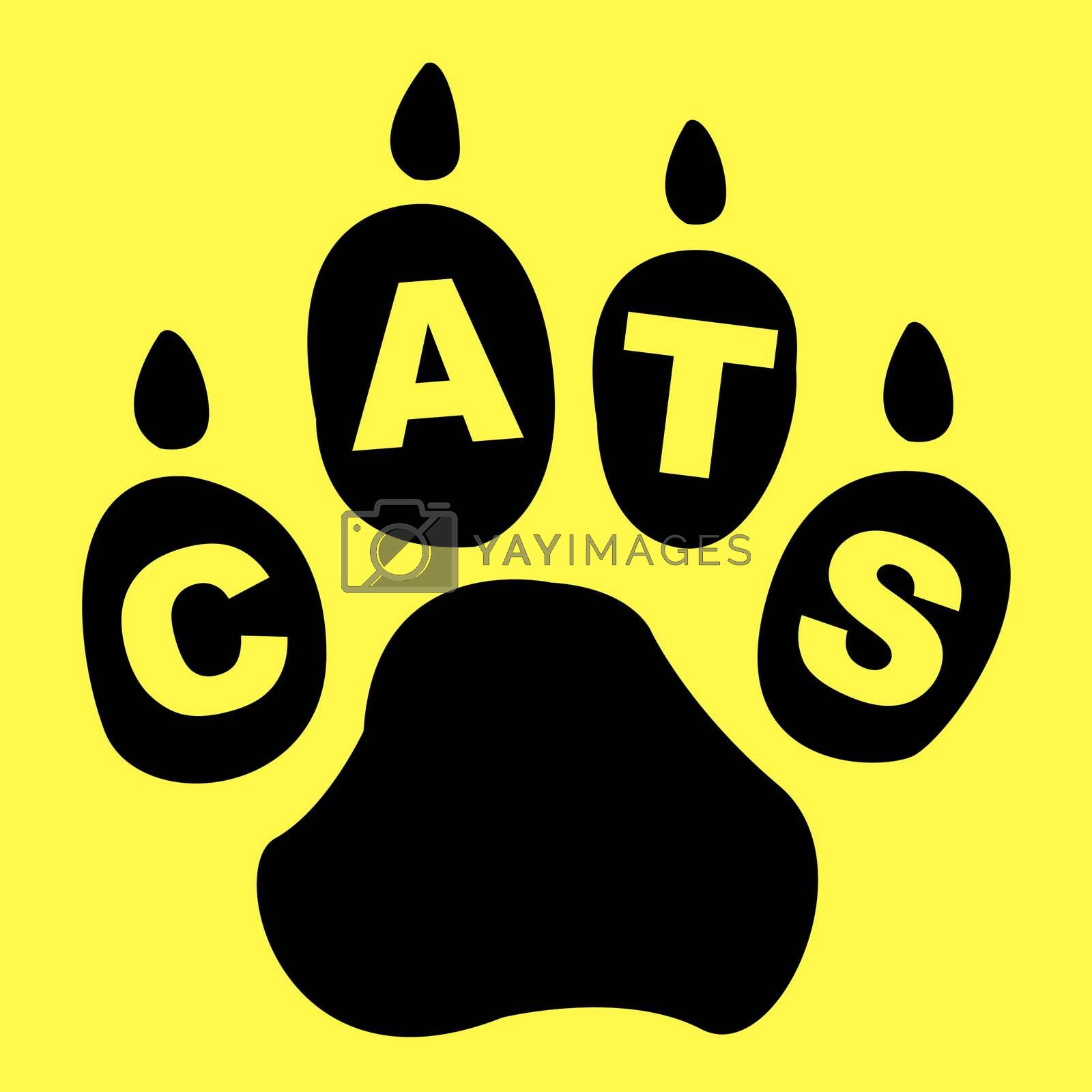 Cats Paw Represents Pet Care And Feline by stuartmiles