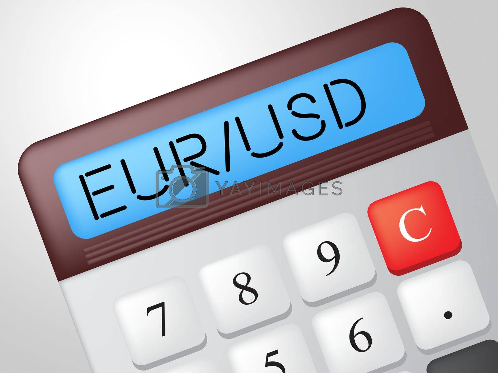 Eur Usd Calculator Indicates Exchange Rate And American by stuartmiles