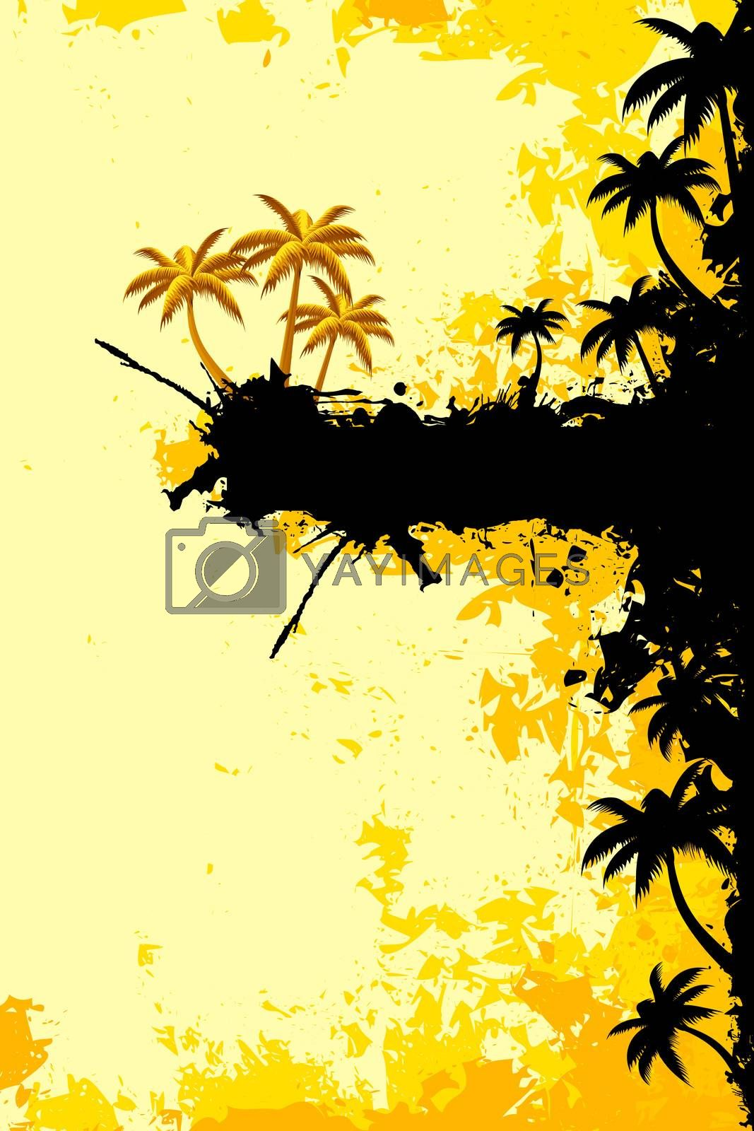 Grunge Tropical landscape by WaD