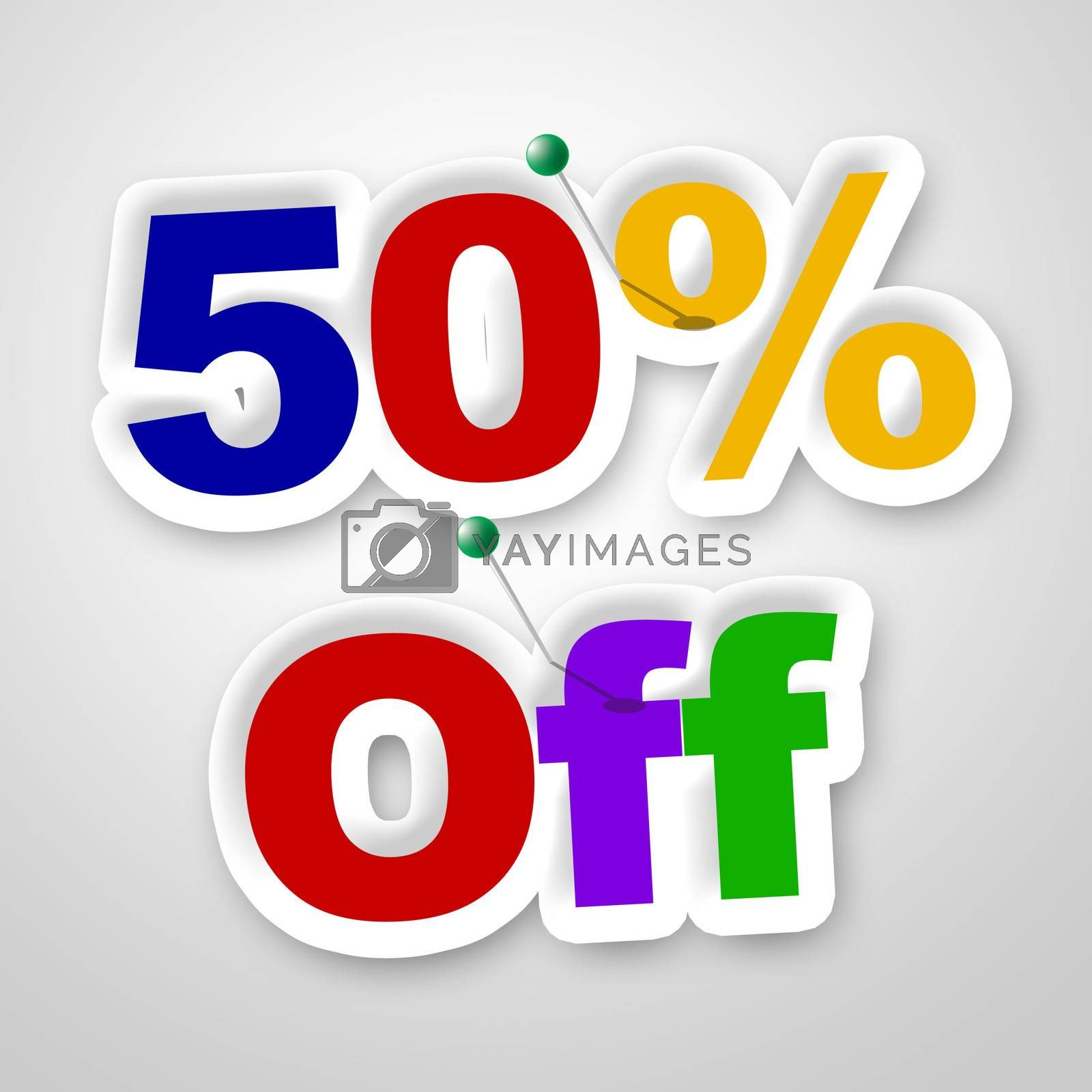 Fifty Percent Off Means Sale Promo And Discounts by stuartmiles