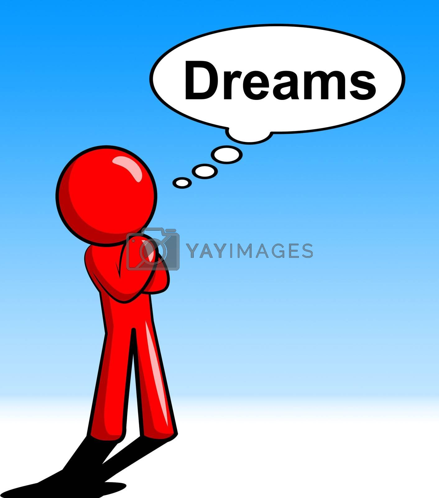 Character Thinking Dreams Shows Consider Consideration And Daydream by stuartmiles