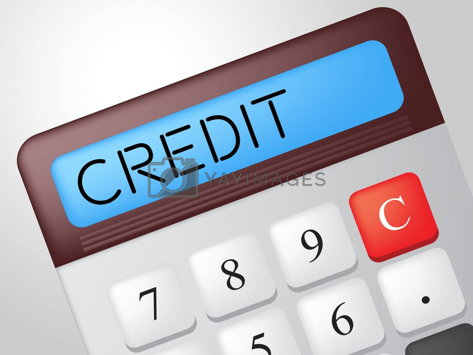 Credit Calculator Shows Debit Card And Calculate by stuartmiles