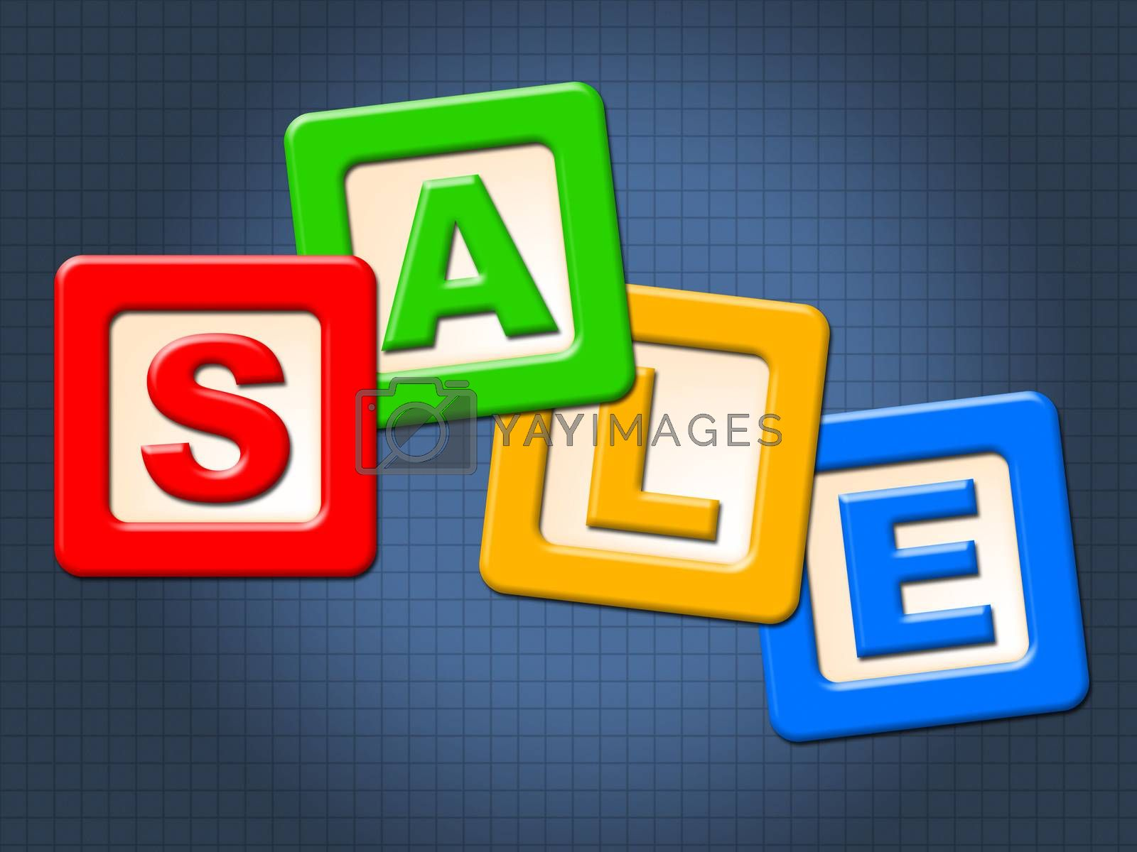 Sale Blocks Shows Youngster Post And Reduction by stuartmiles