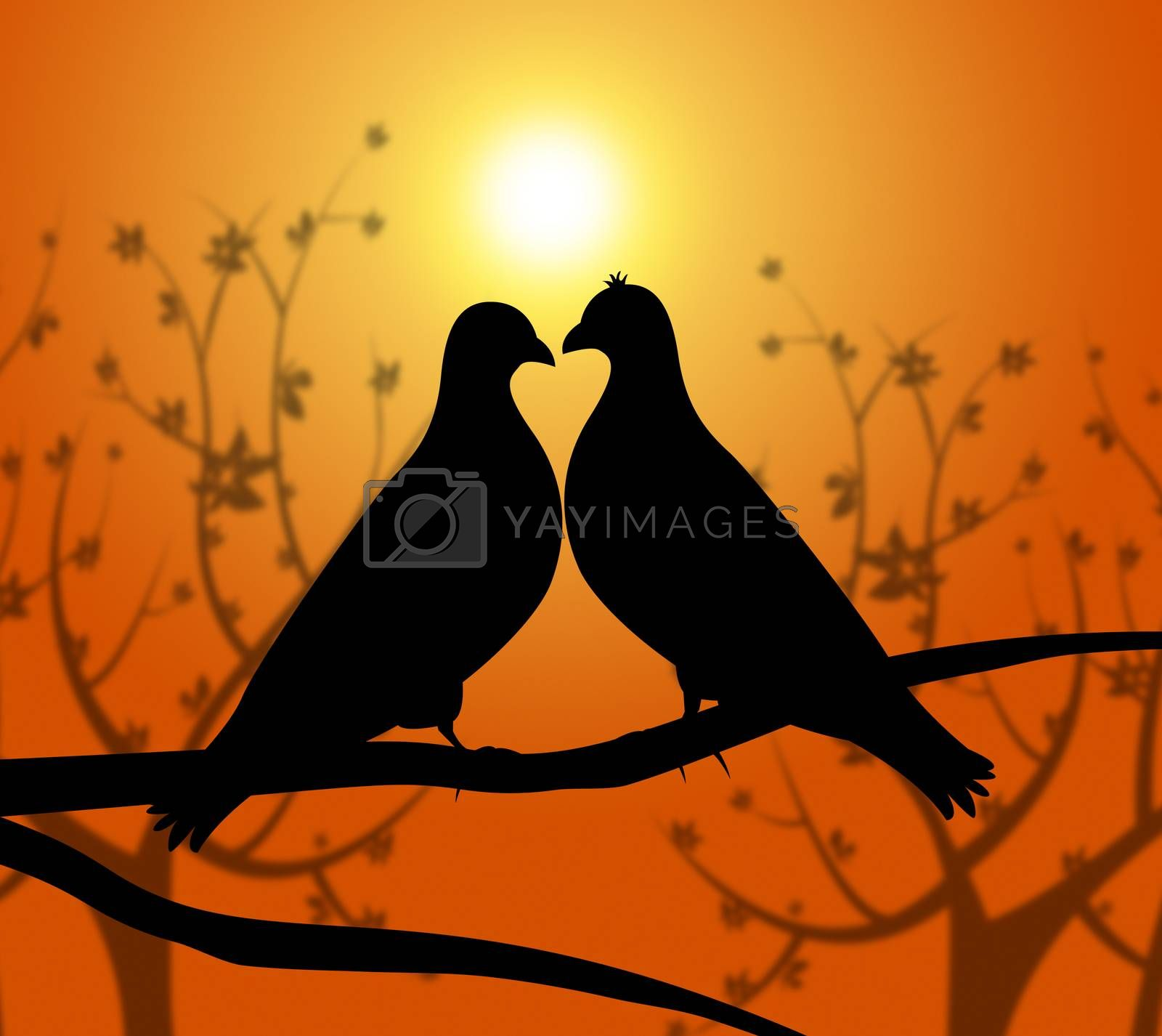Love Birds Represents Heart Compassion And Boyfriend by stuartmiles