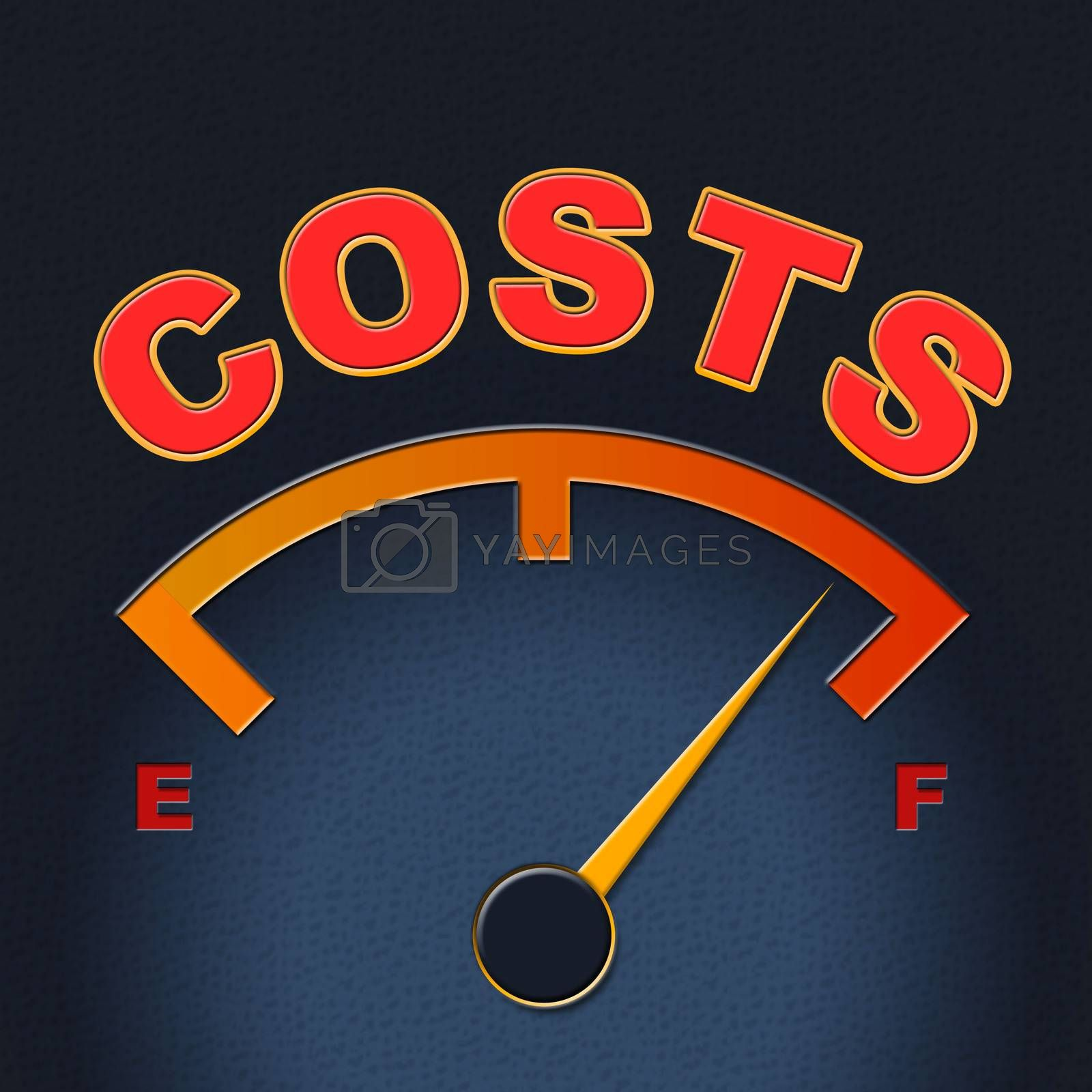 Costs Gauge Means Display Bills And Finances by stuartmiles