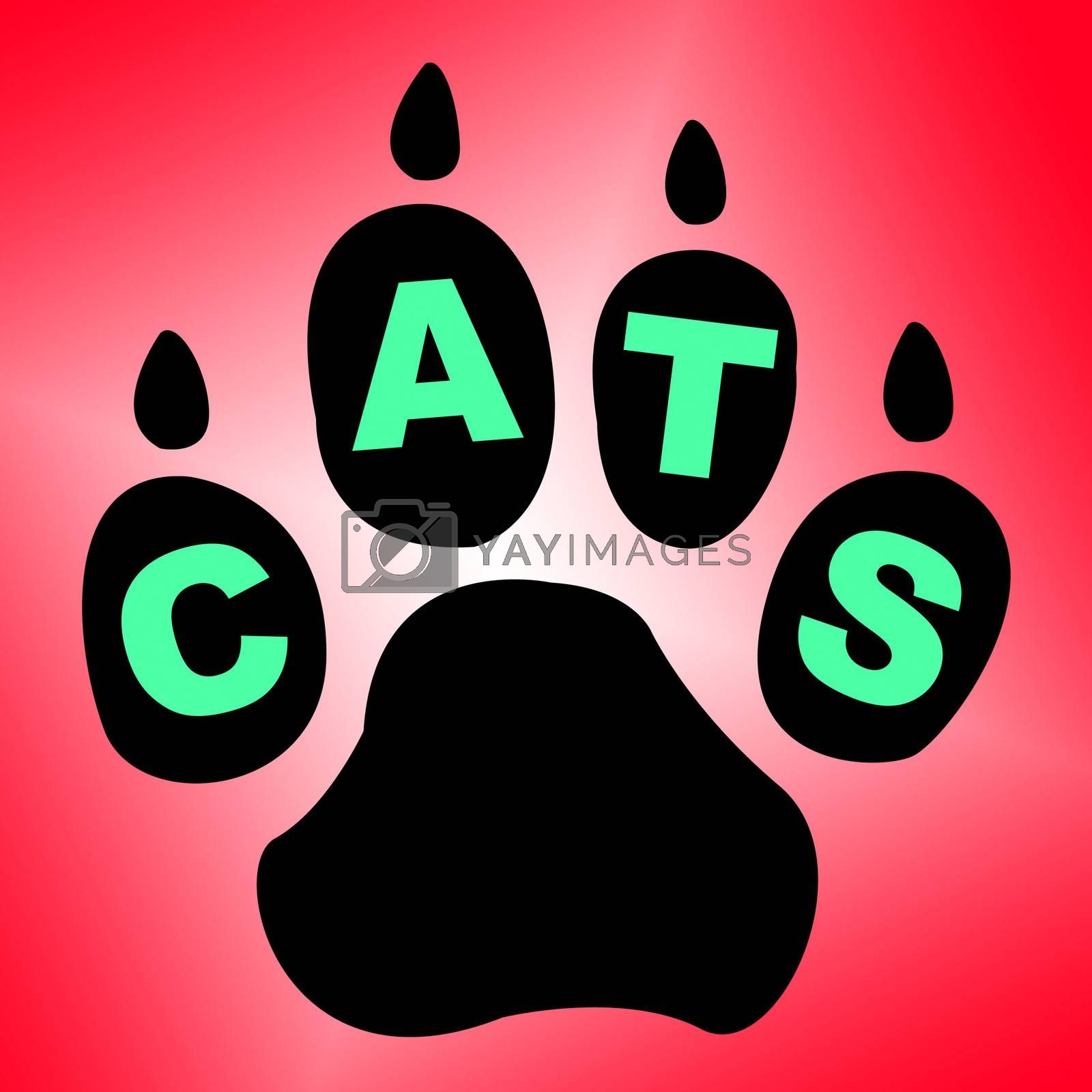Cats Paw Shows Pet Services And Feline by stuartmiles