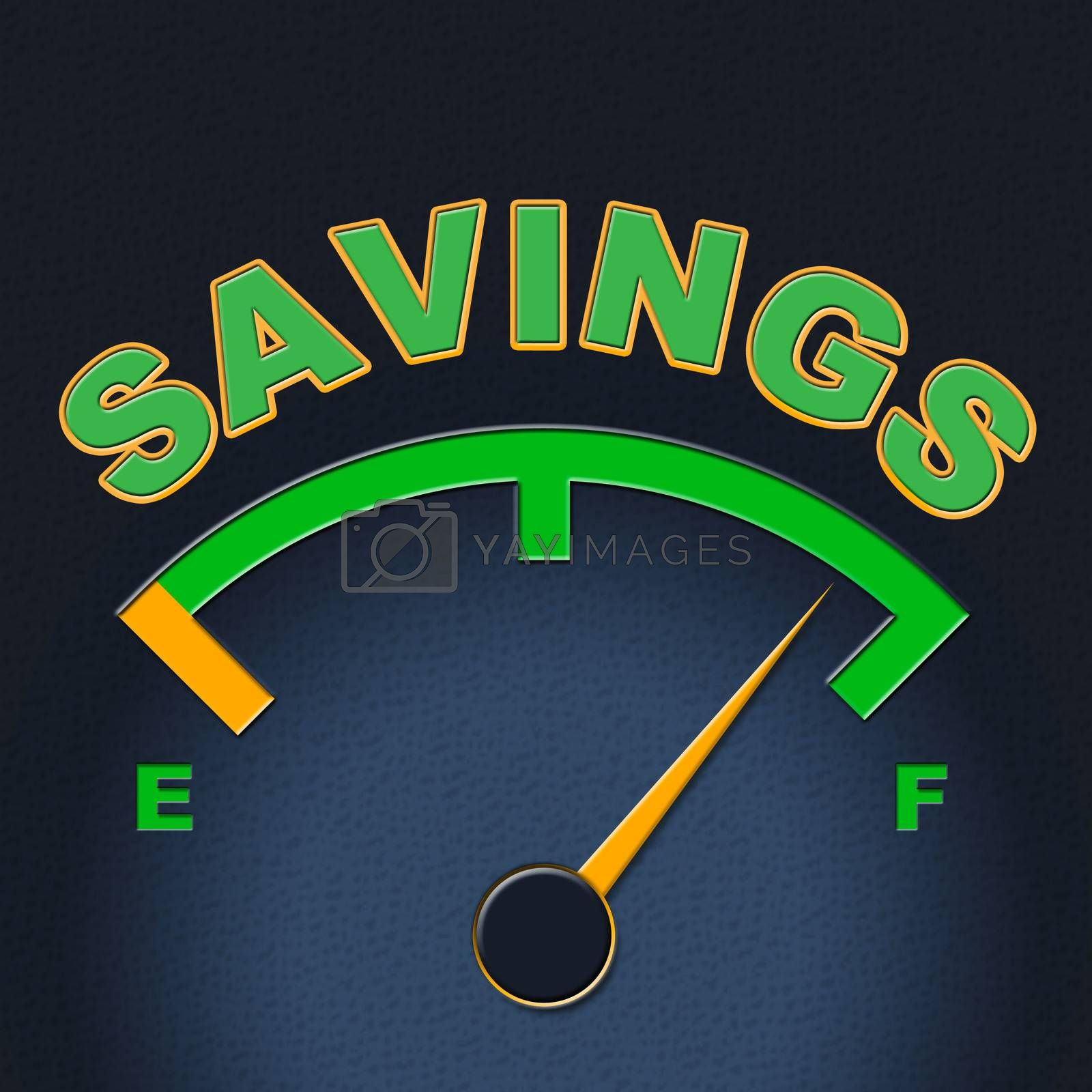 Savings Gauge Indicates Invest Monetary And Cash by stuartmiles