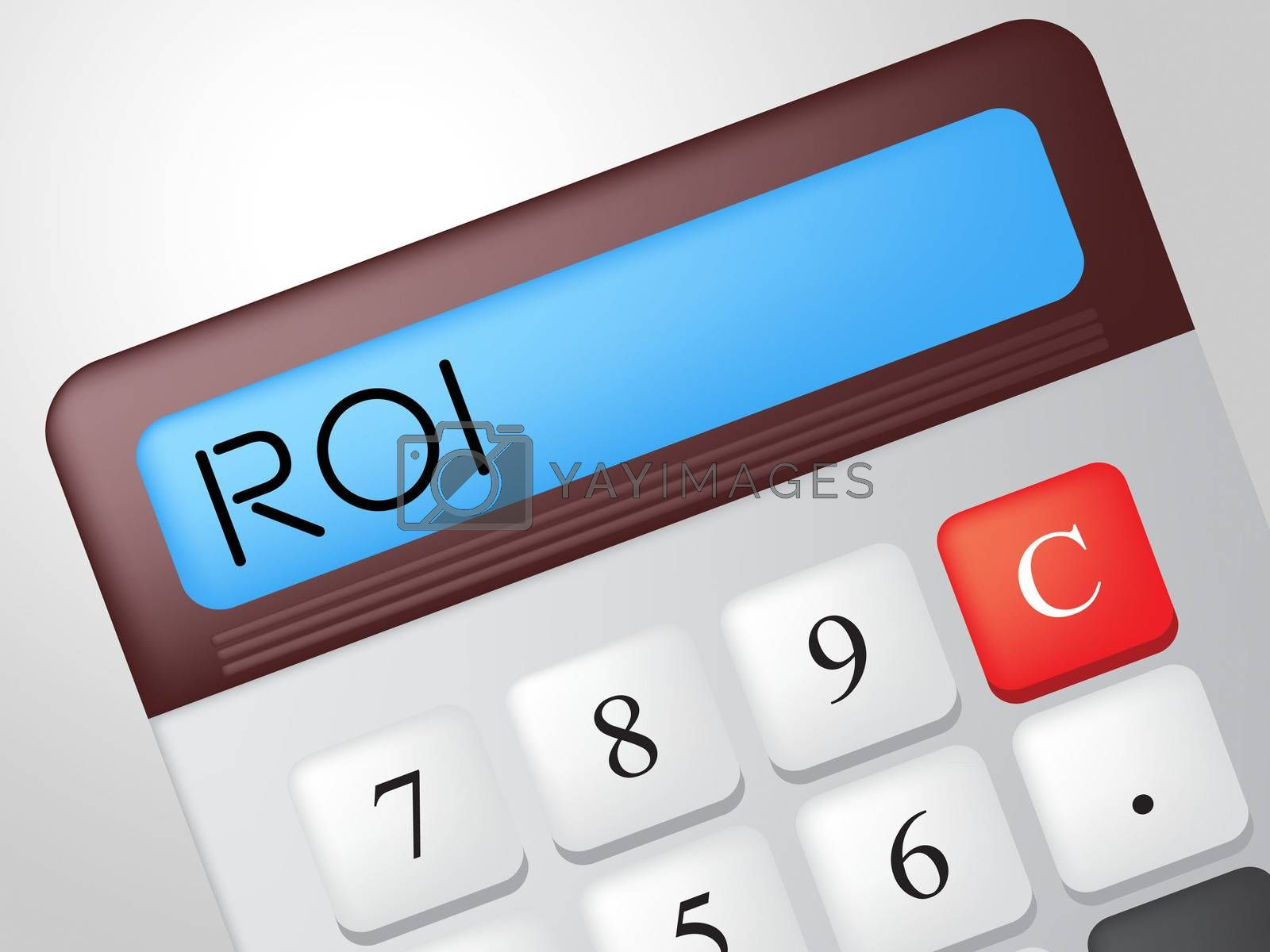 Roi Calculator Shows Return On Investment And Calculate by stuartmiles
