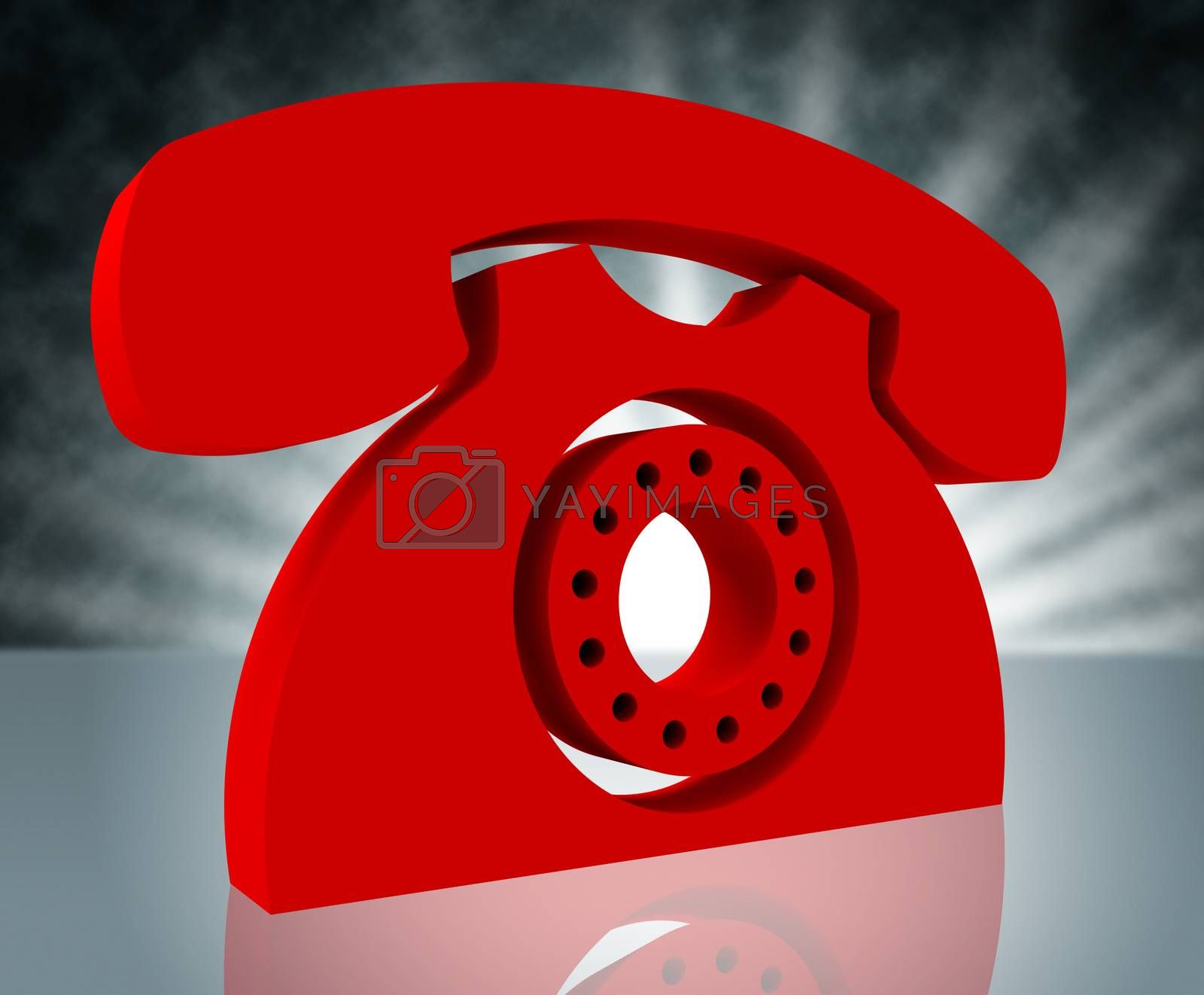 Telephone Call Shows Question Information And Chat by stuartmiles