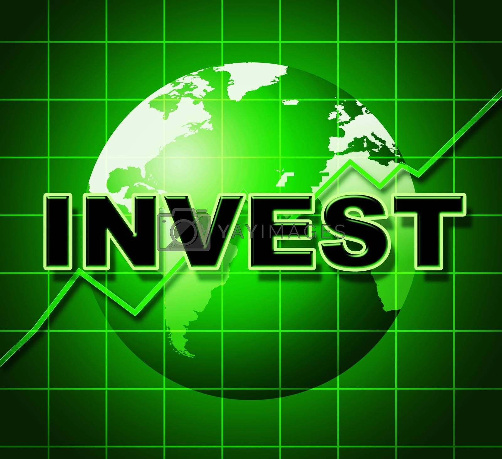 Invest Graph Means Return On Investment And Finance by stuartmiles