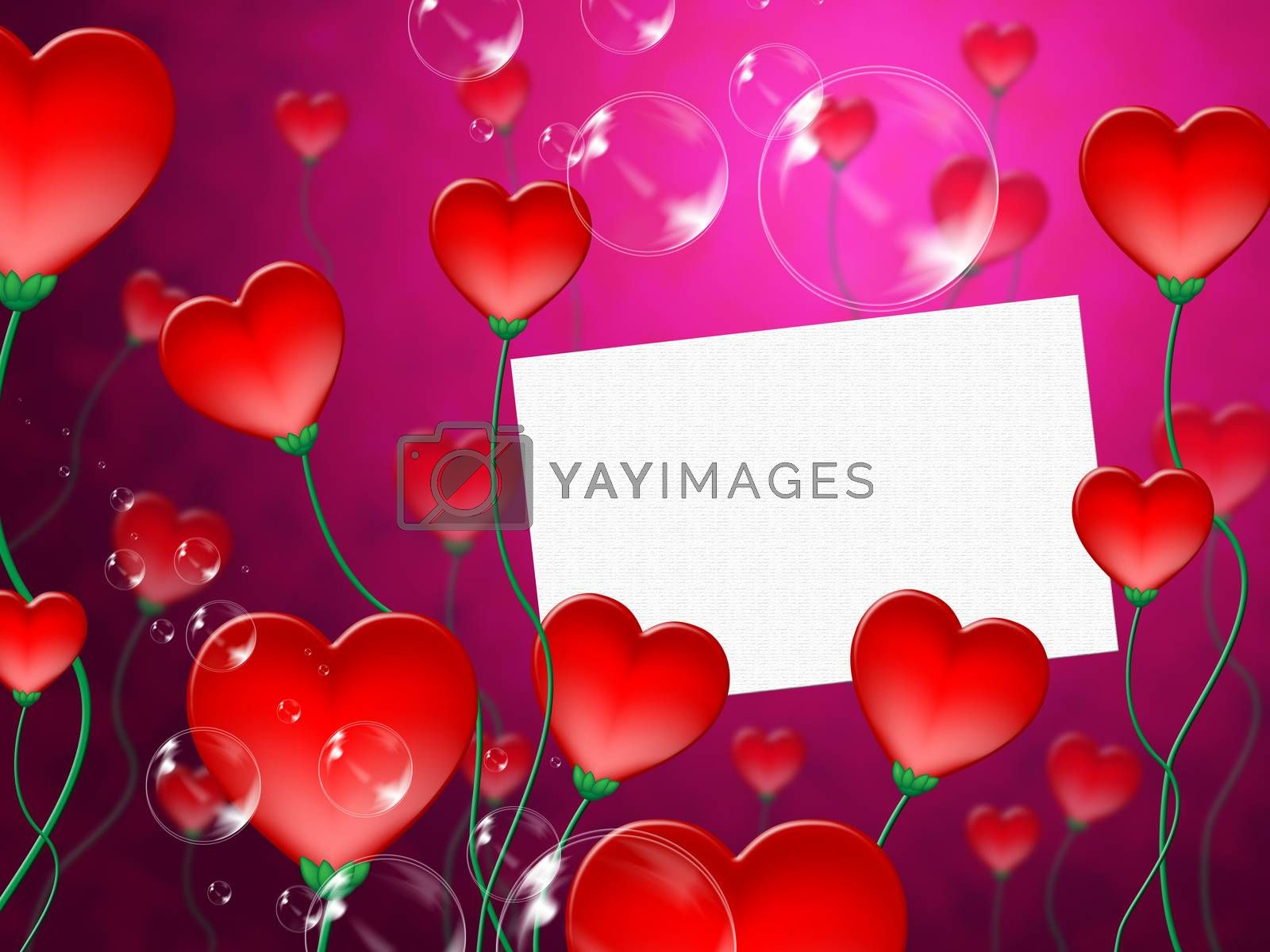 Heart Message Means Valentine Day And Correspond by stuartmiles