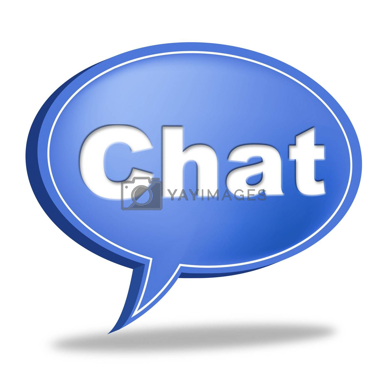Chat Message Represents Communicate Networking And Call by stuartmiles