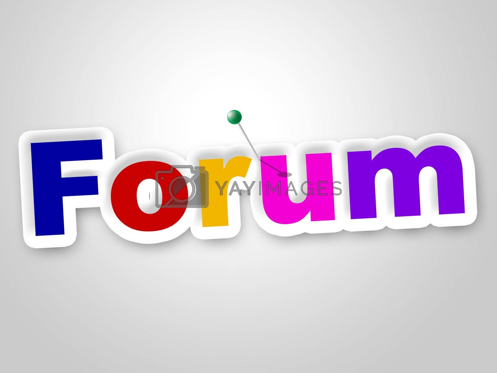 Forum Sign Means Group Website And Chat by stuartmiles