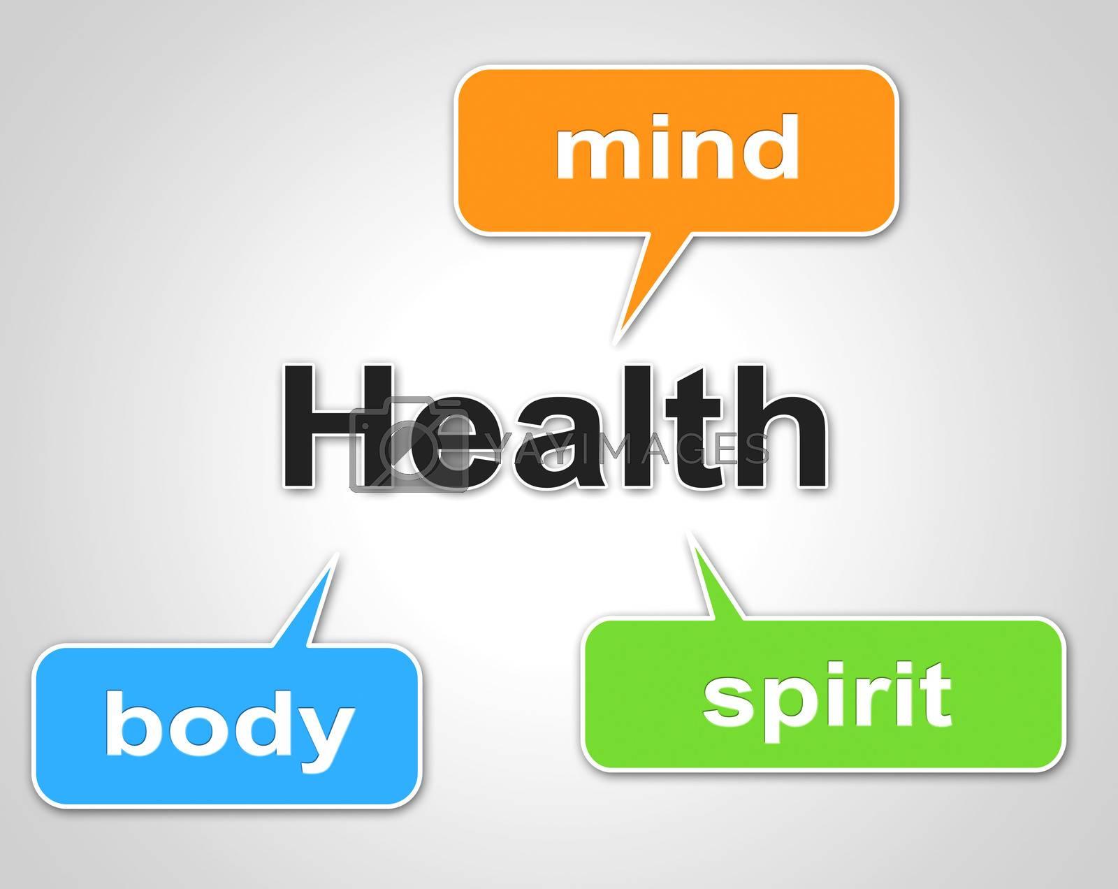 Health Words Represents Preventive Medicine And Care by stuartmiles
