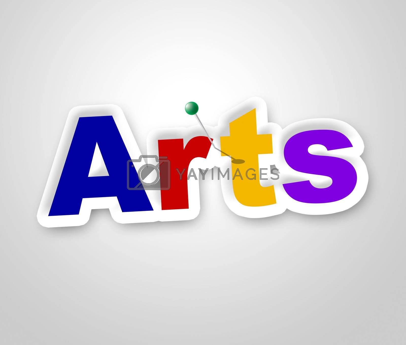 Arts Sign Means Design Artistic And Craft by stuartmiles