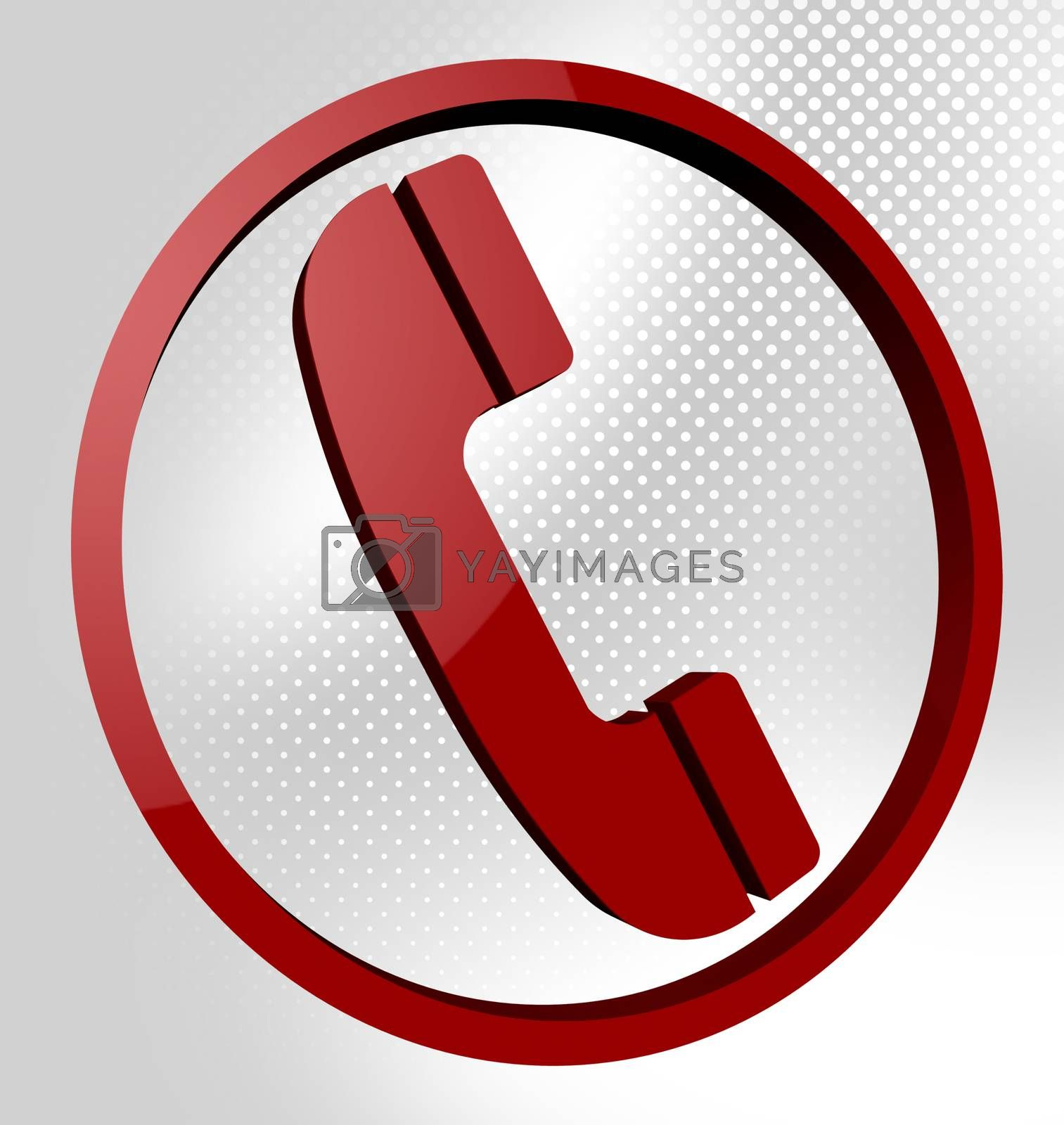 Telephone Call Means Support Conversation And Debate by stuartmiles