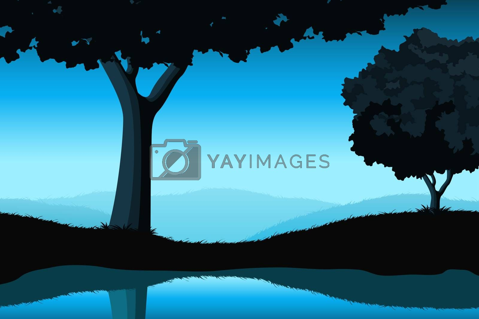 Majestic landscape with tree by WaD