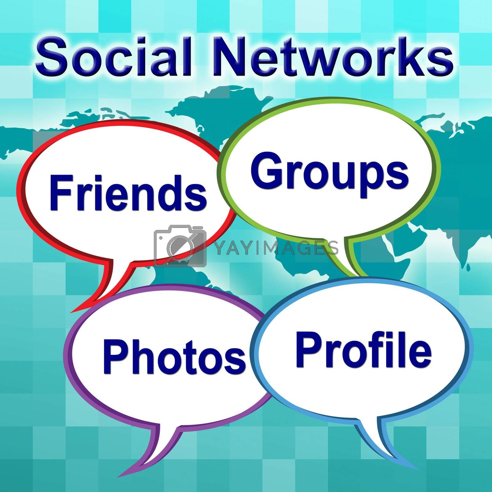 Social Networks Words Means News Feed And Forums by stuartmiles