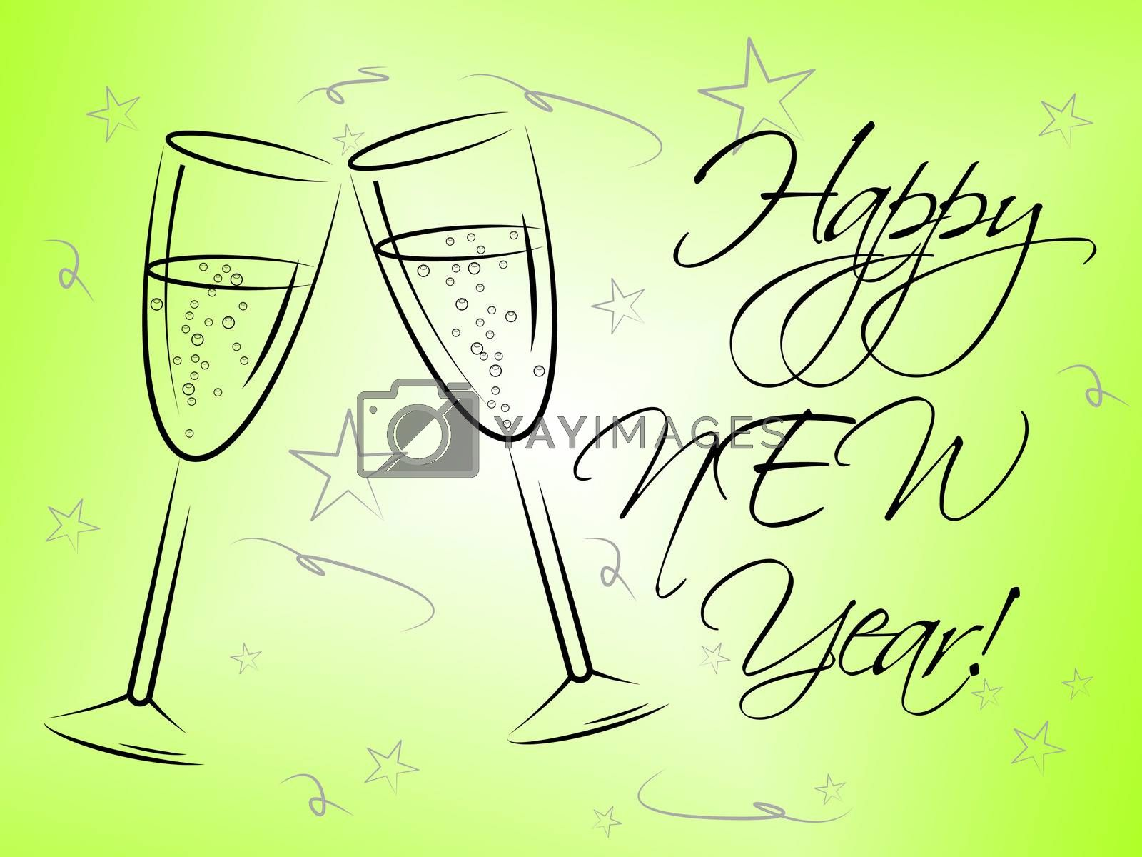Happy New Year Represents Fun Festive And Celebrations by stuartmiles
