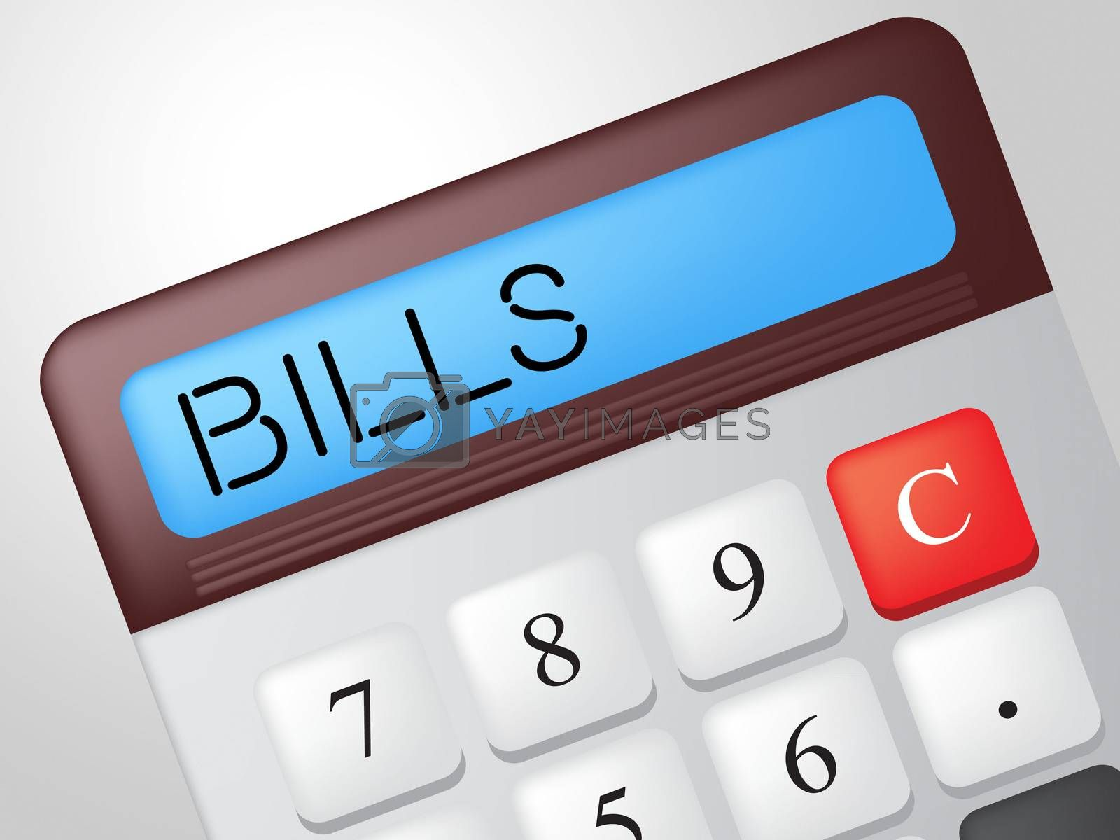 Bills Calculator Means Receipt Accounting And Costs by stuartmiles