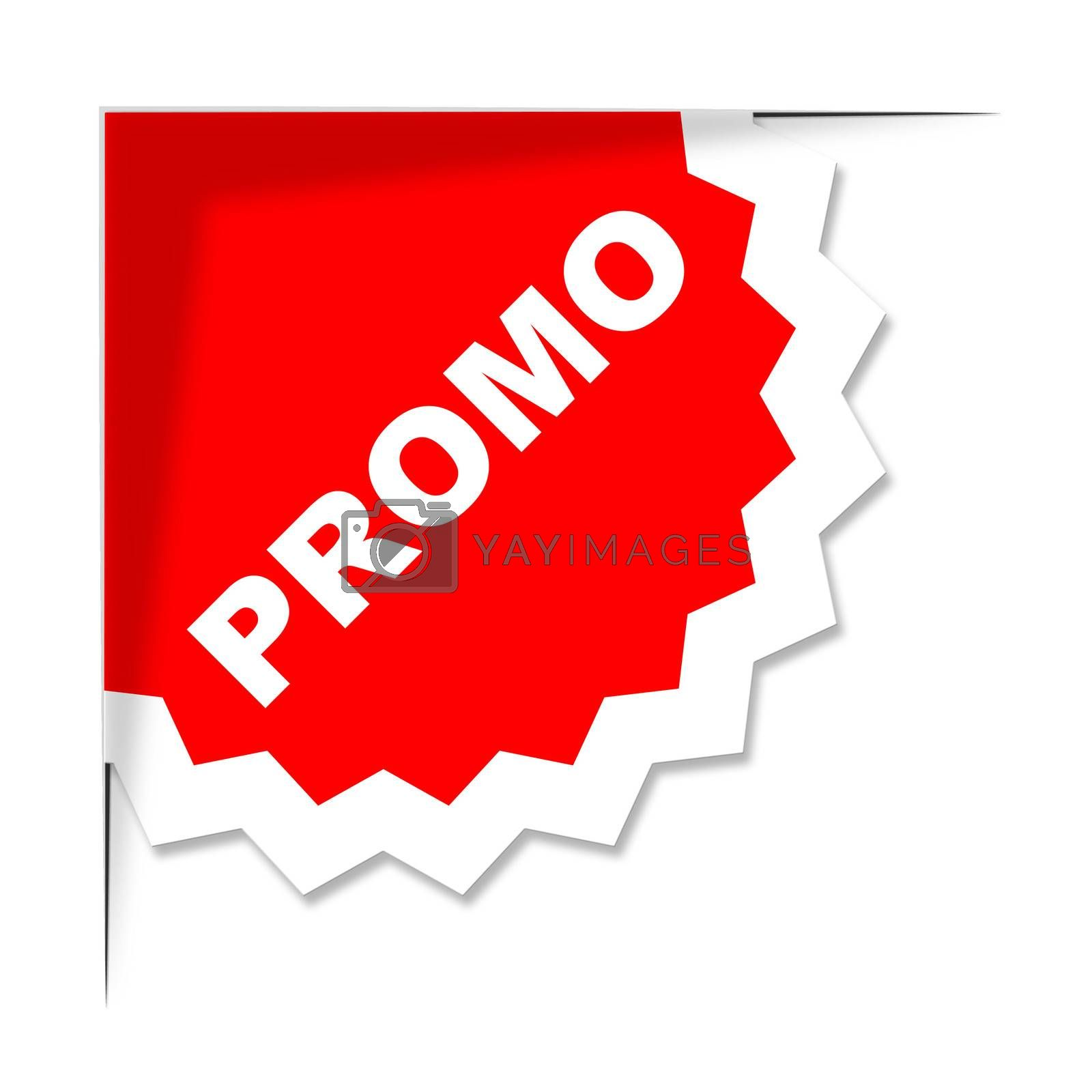 Promo Label Represents Merchandise Clearance And Discount by stuartmiles
