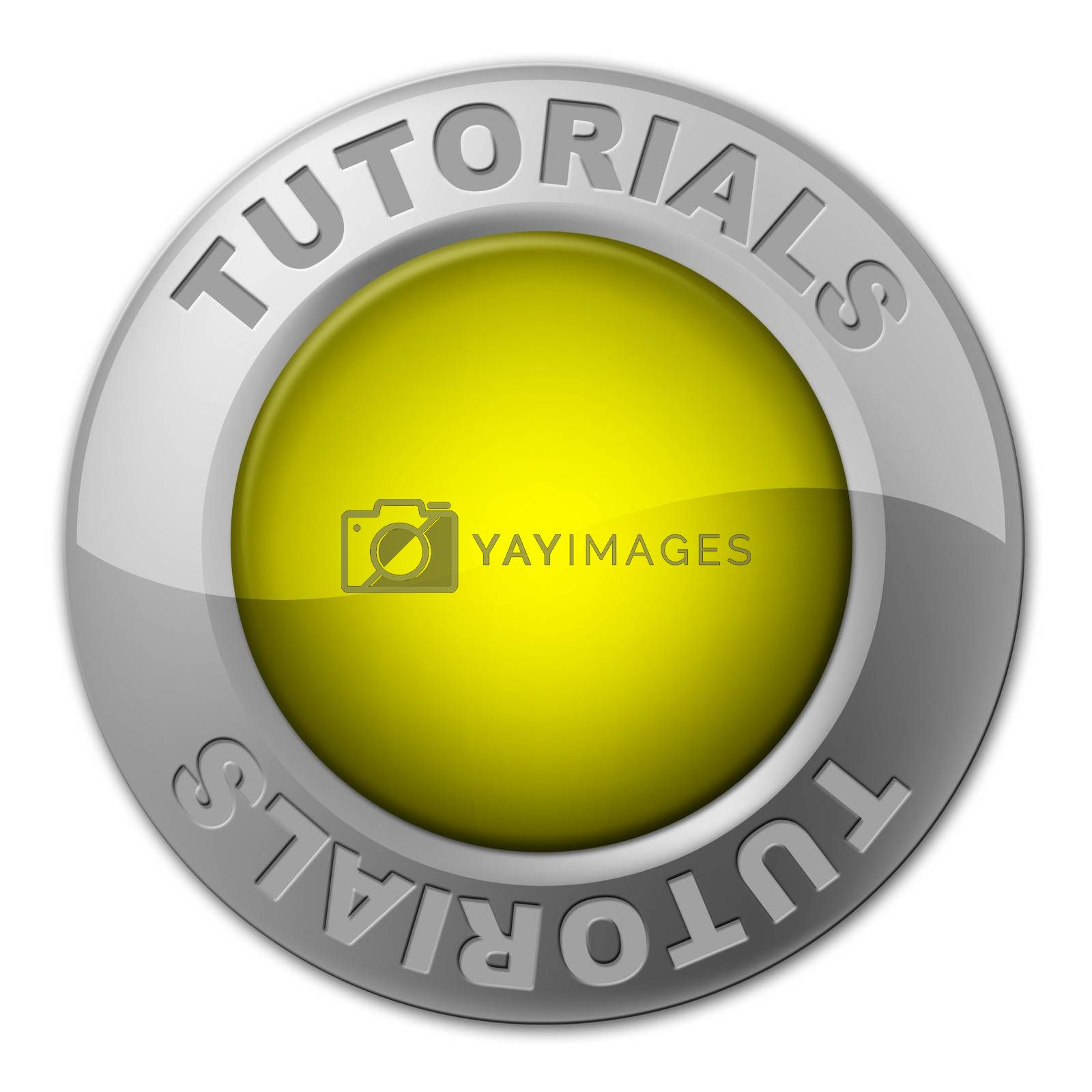 Tutorials Button Shows Learn Train And University by stuartmiles