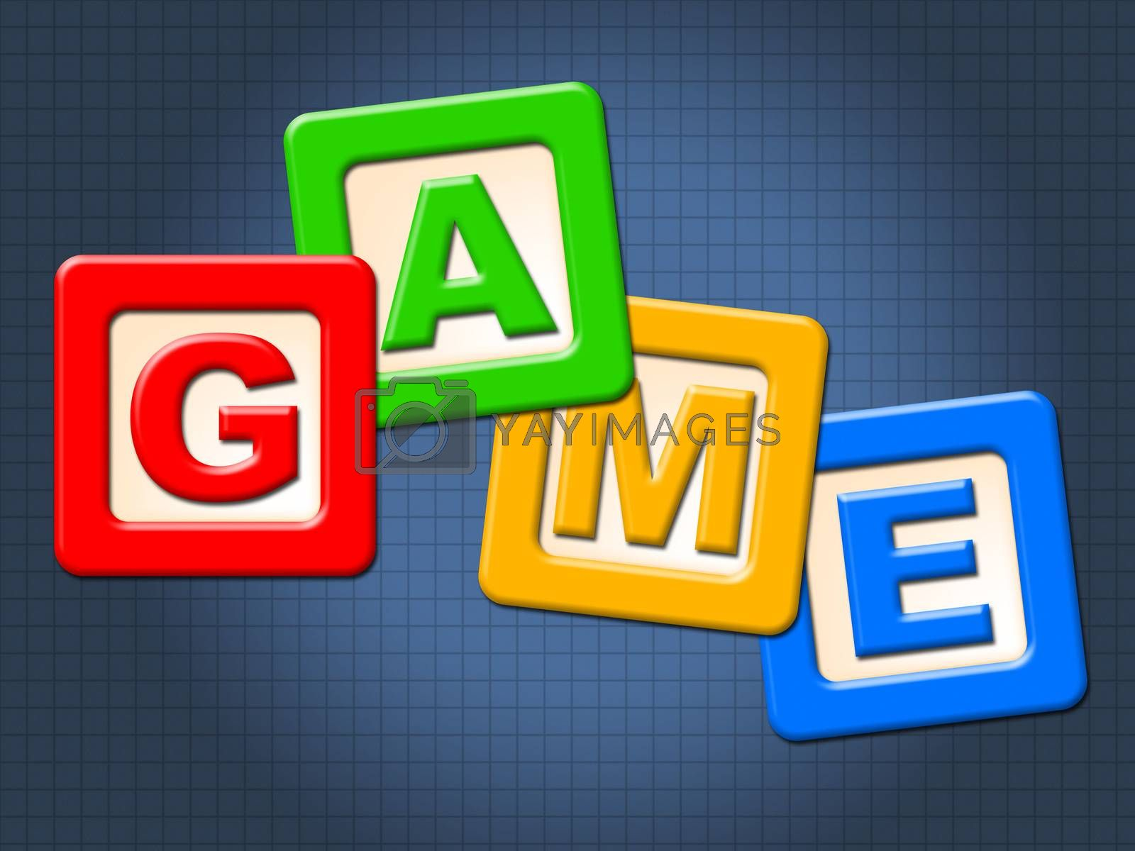 Game Kids Blocks Shows Gamer Leisure And Children by stuartmiles