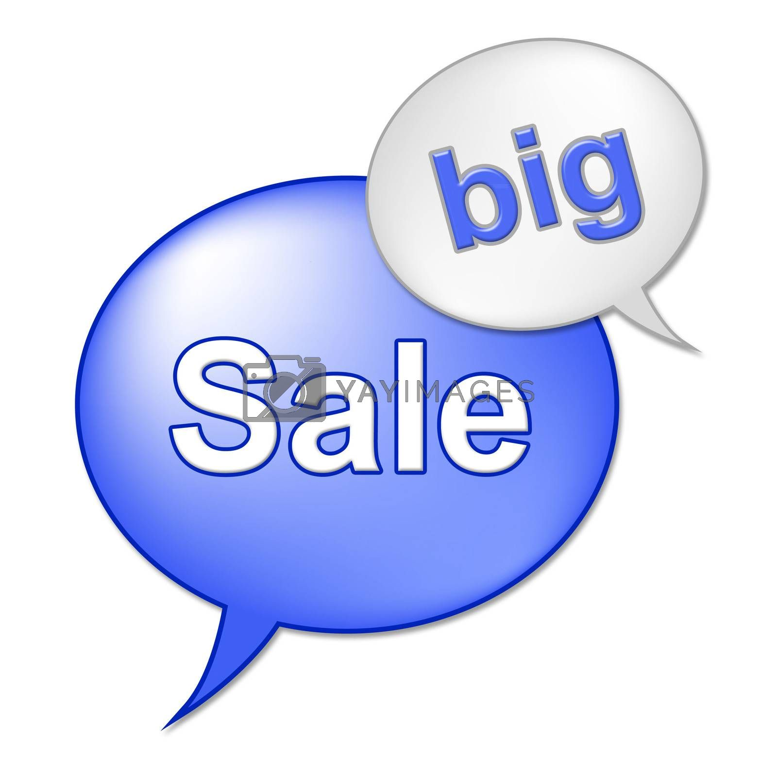 Big Sale Message Indicates Save Promo And Closeout by stuartmiles