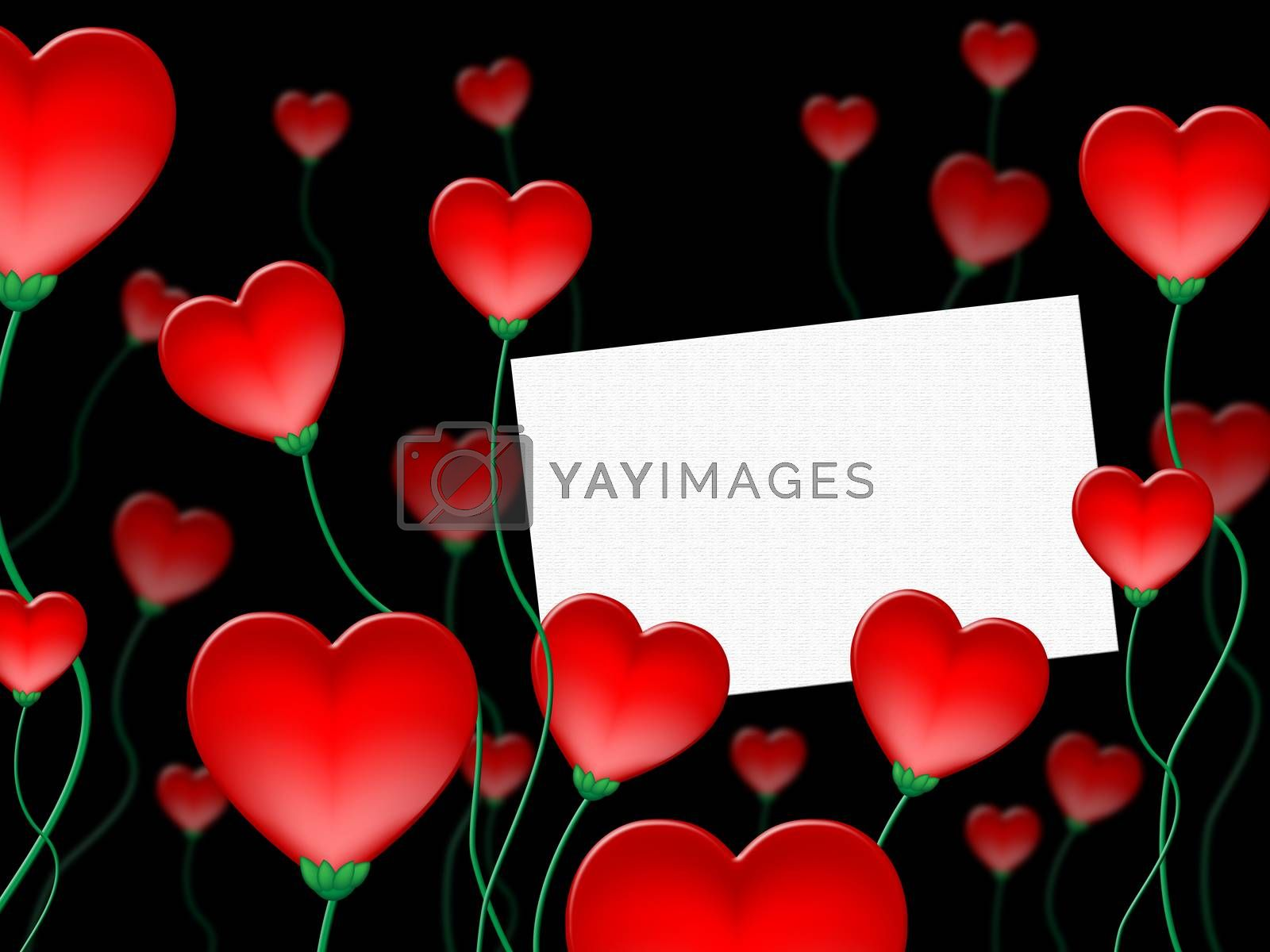 Heart Message Indicates Valentine Day And Communicate by stuartmiles