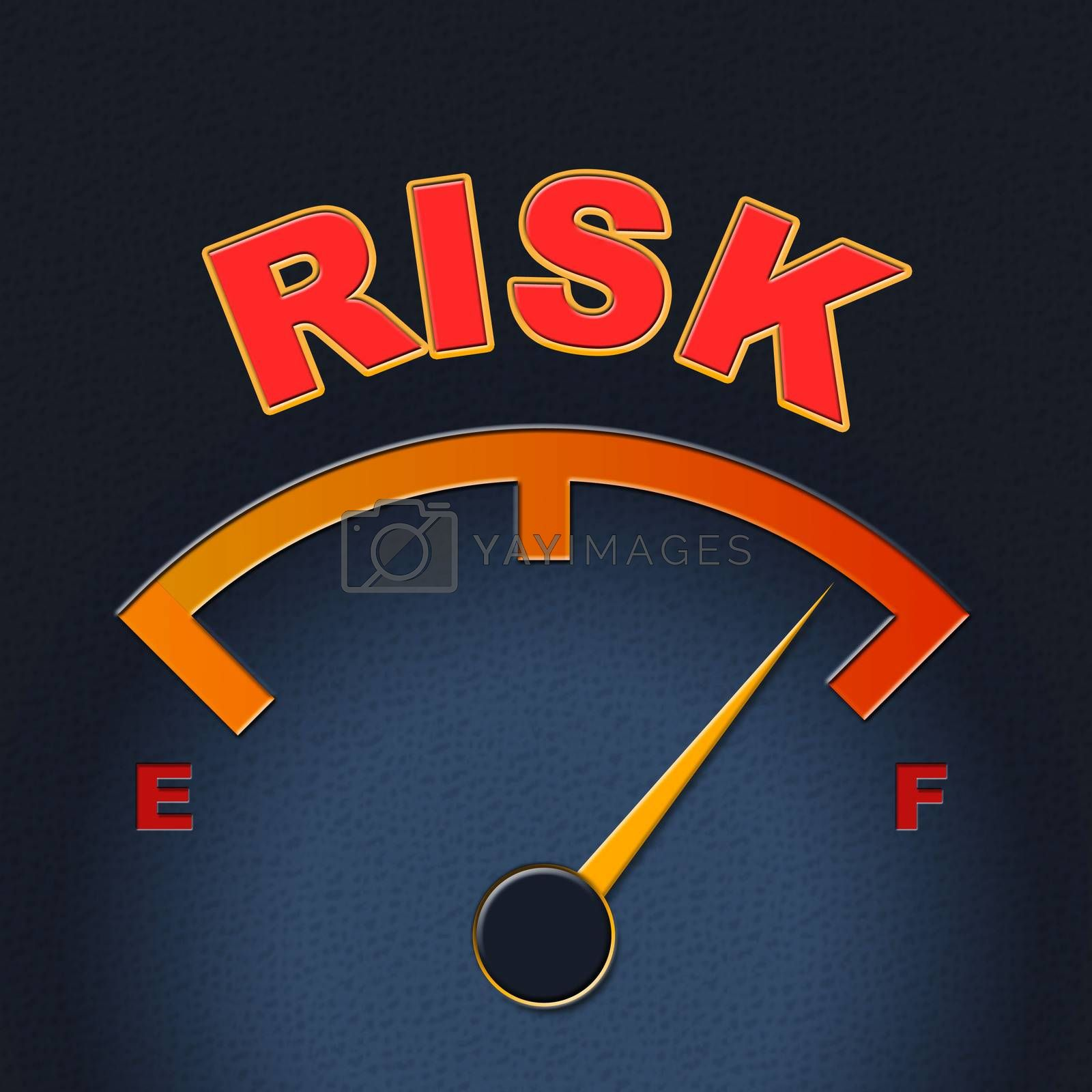 Risk Gauge Shows Display Caution And Failure by stuartmiles