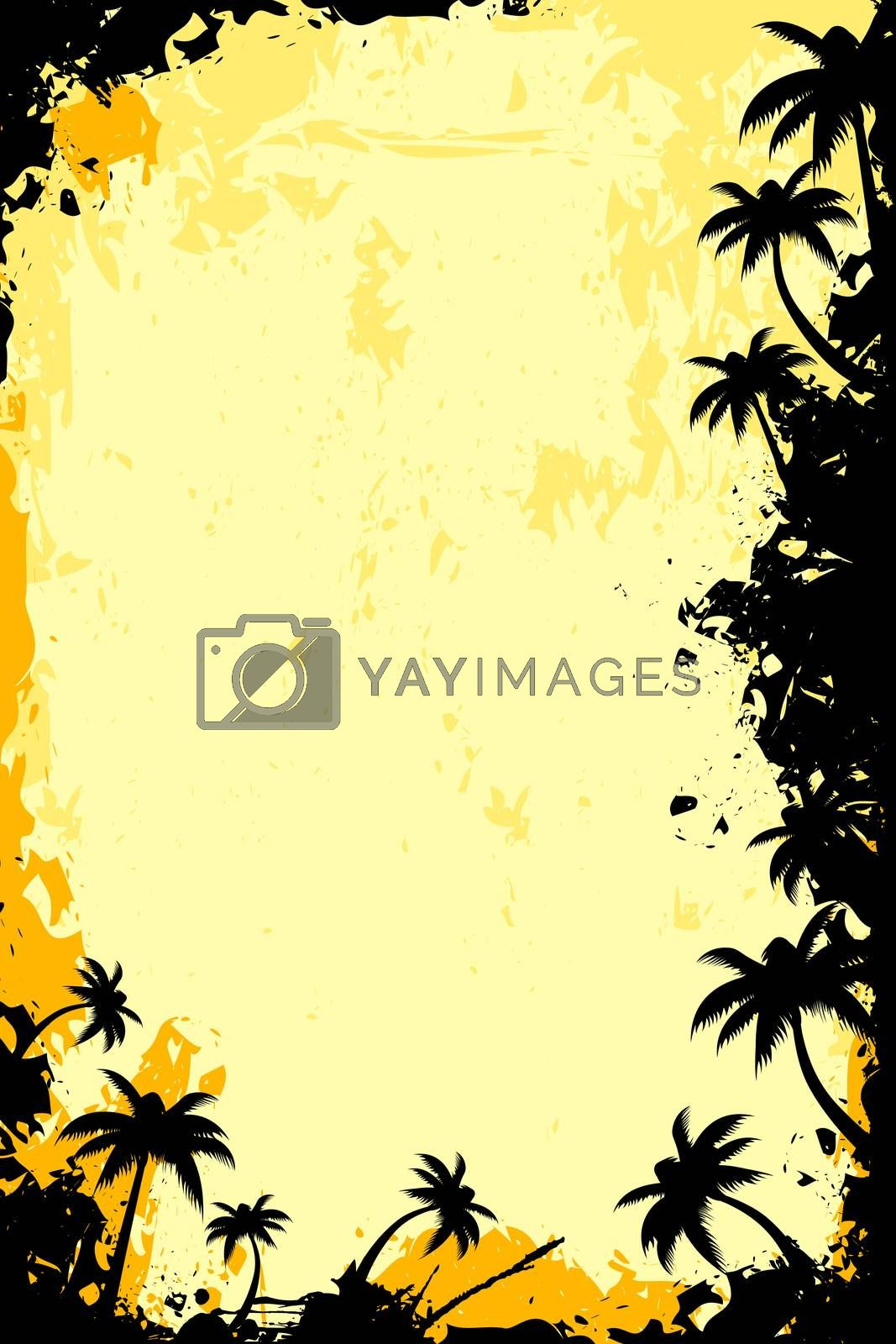 Grunge Tropical Frame by WaD