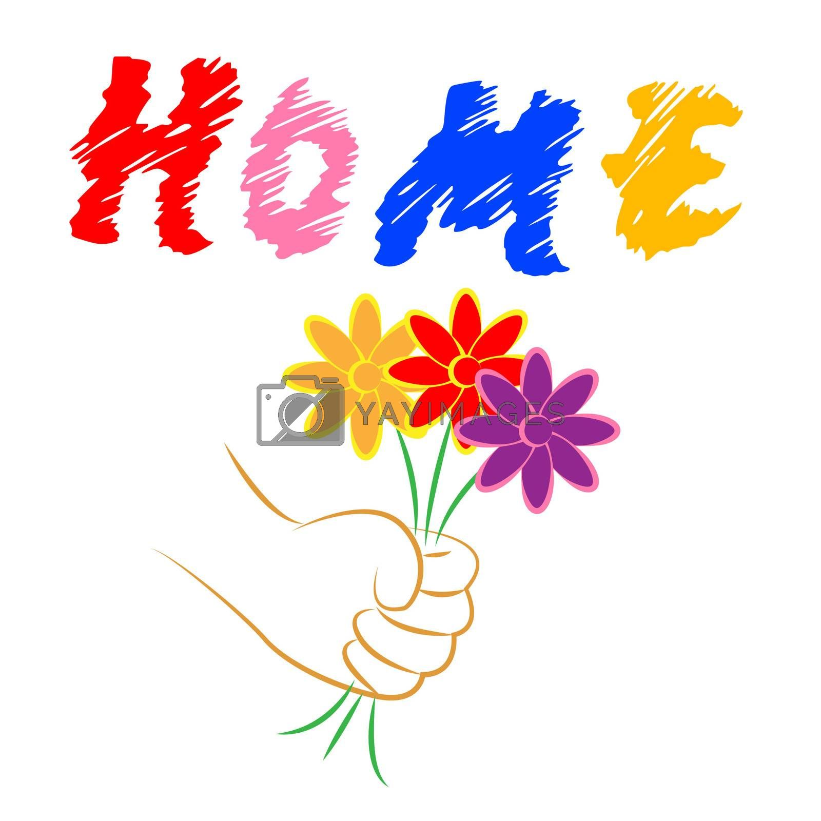 Home Flowers Indicates Property Flora And Houses by stuartmiles