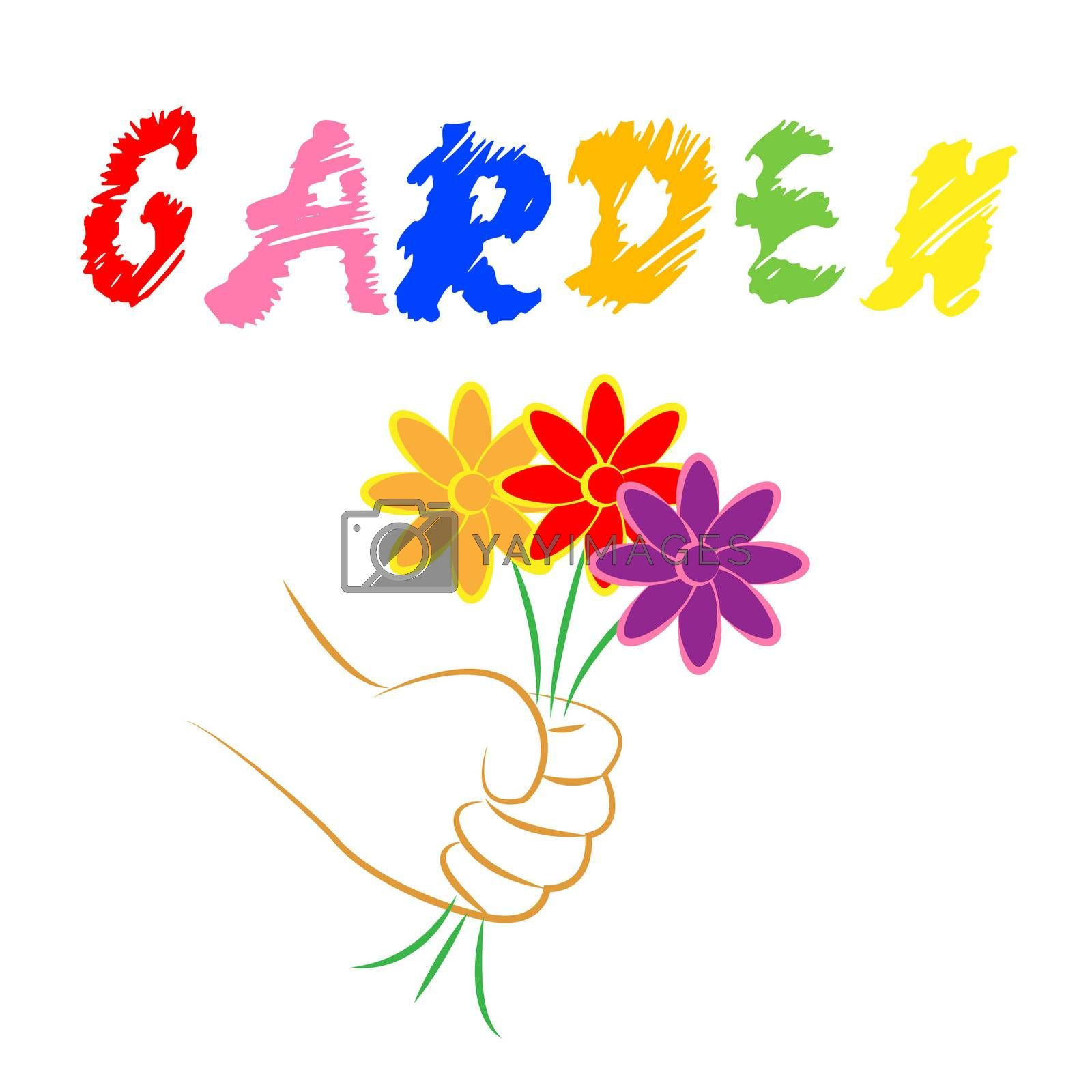 Garden Flowers Represents Bouquet Flora And Gardening by stuartmiles