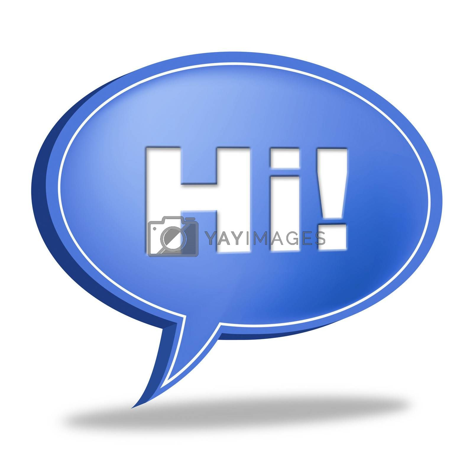 Hi Speech Bubble Represents How Are You And Chat by stuartmiles