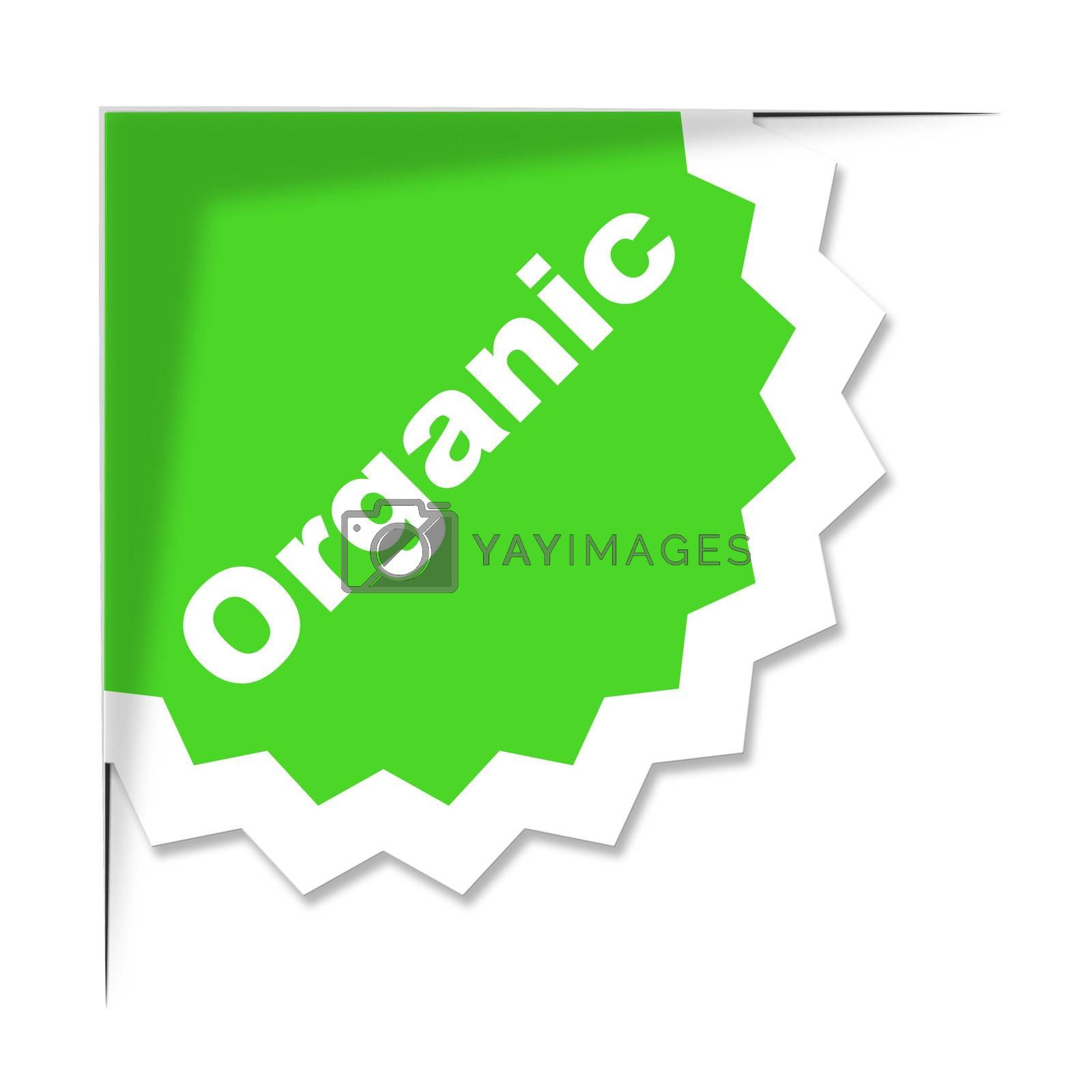 Organic Label Means Advertisement Sign And Placard by stuartmiles