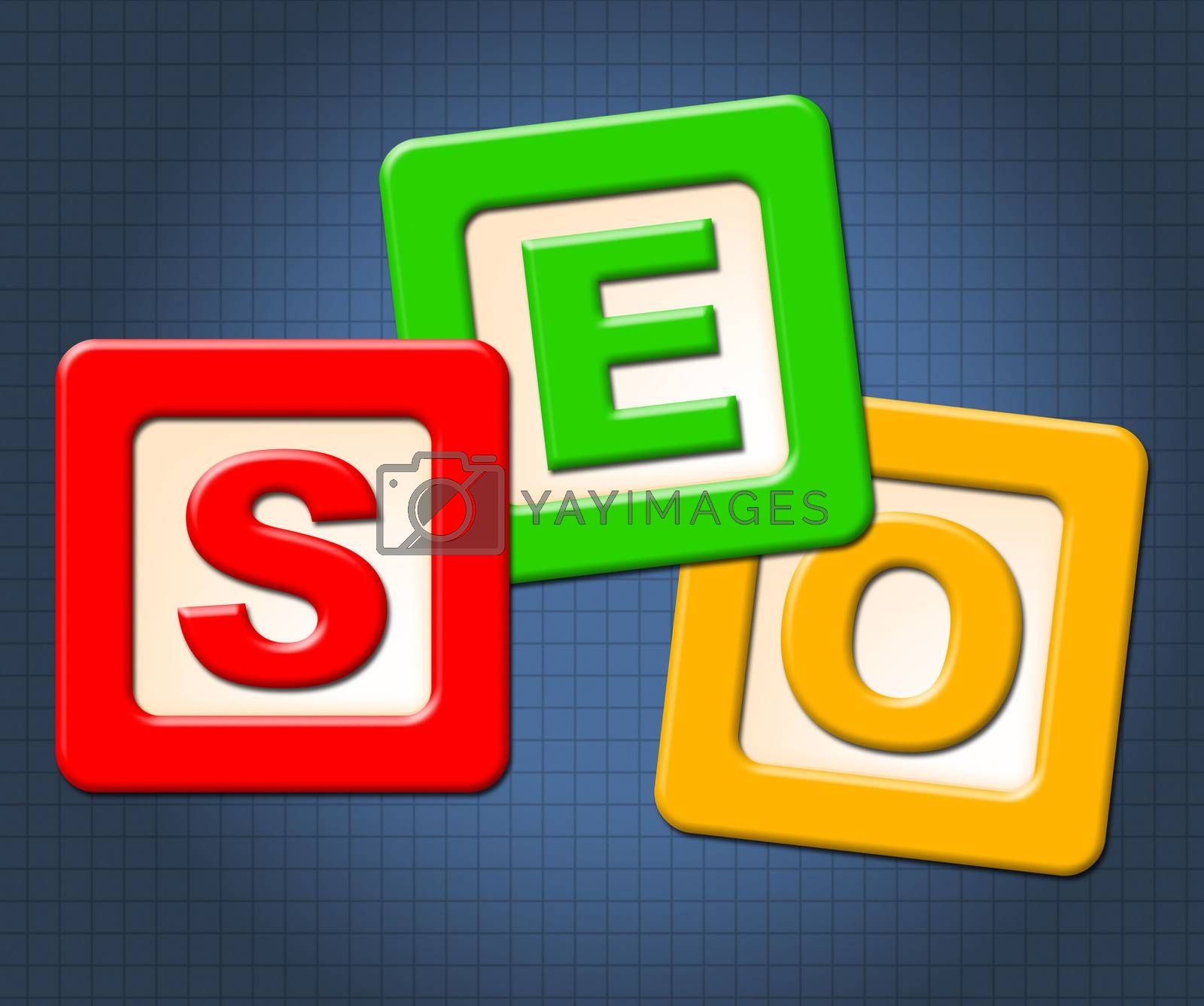 Seo Kids Blocks Shows Optimization Youngsters And Childhood by stuartmiles