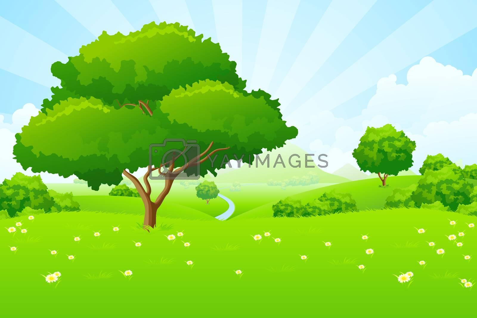 Tree Landscape by WaD