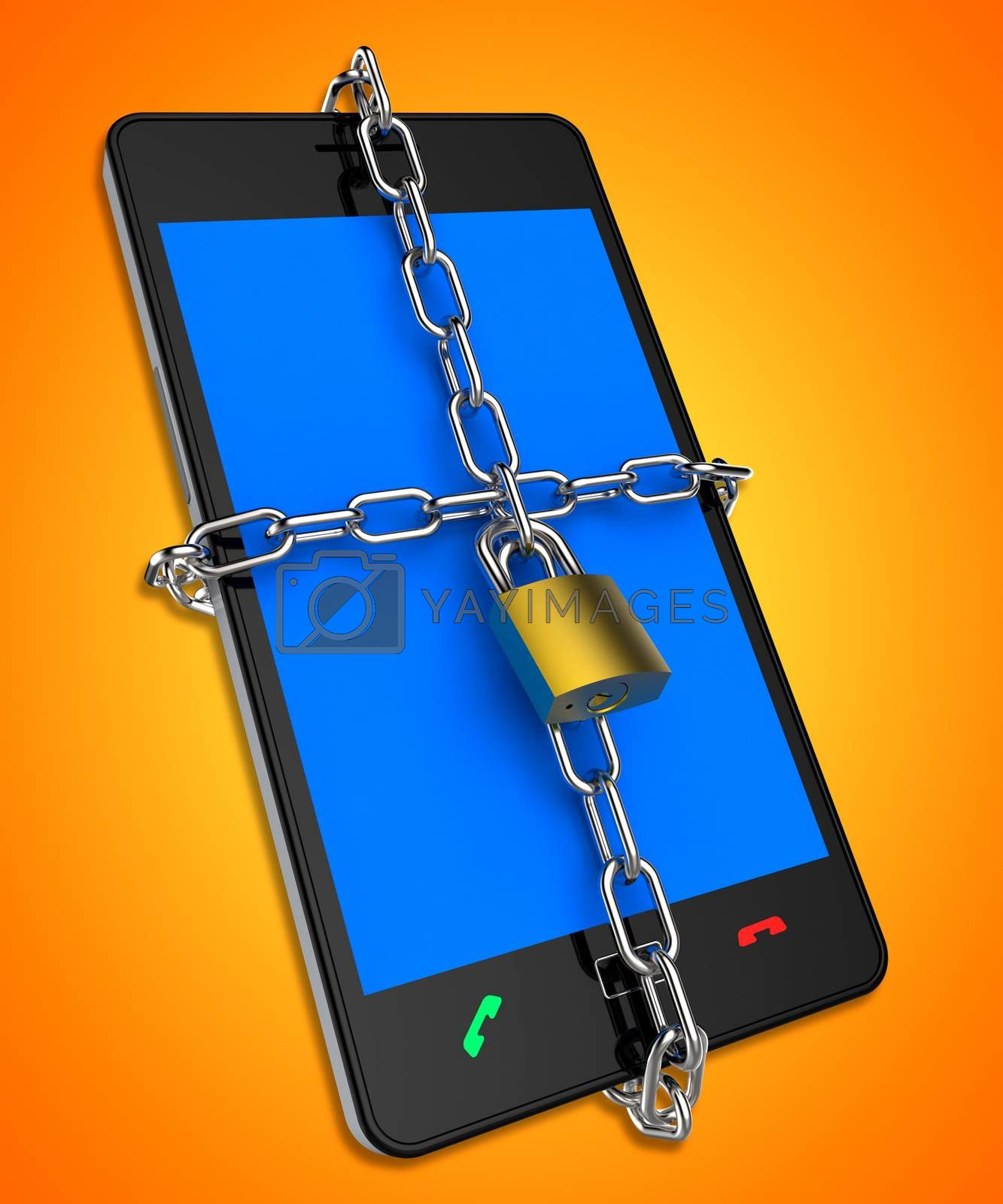 Smartphone Locked Shows Web Protect And Unauthorized by stuartmiles