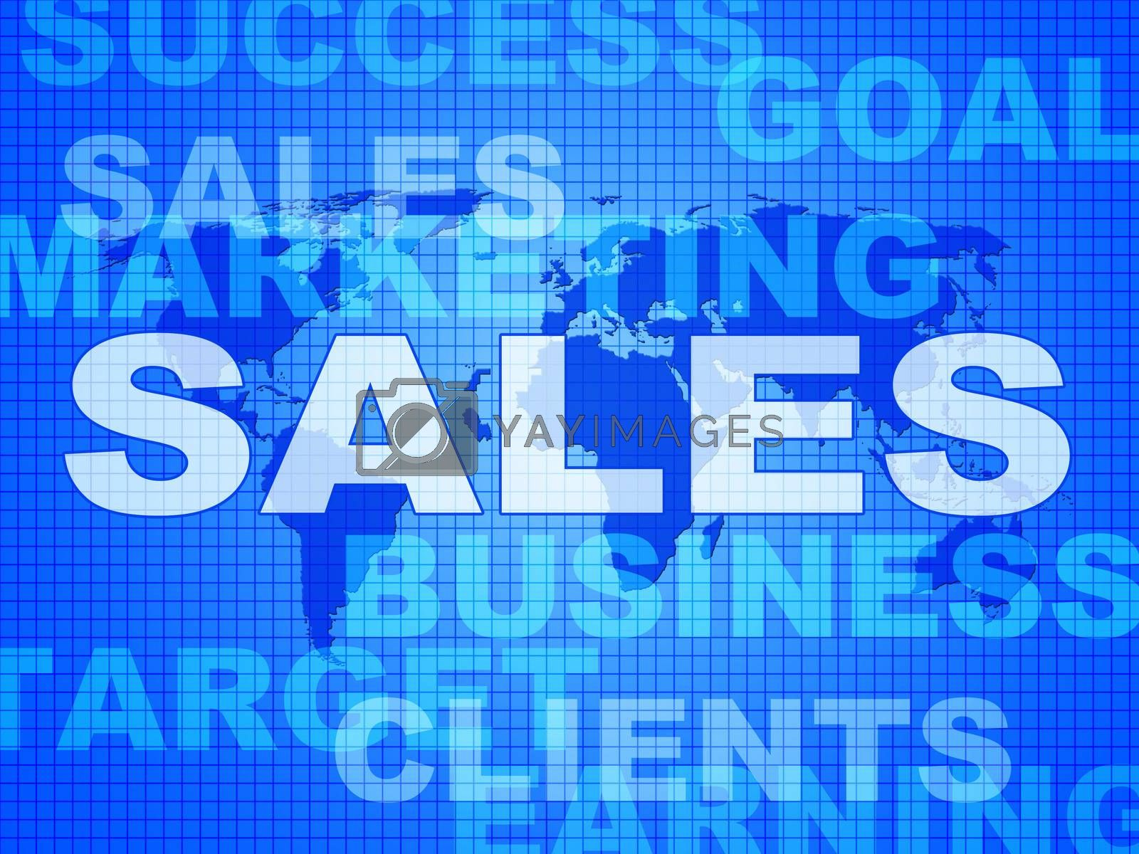 Sales Words Represents Corporation Sell And Promotion by stuartmiles