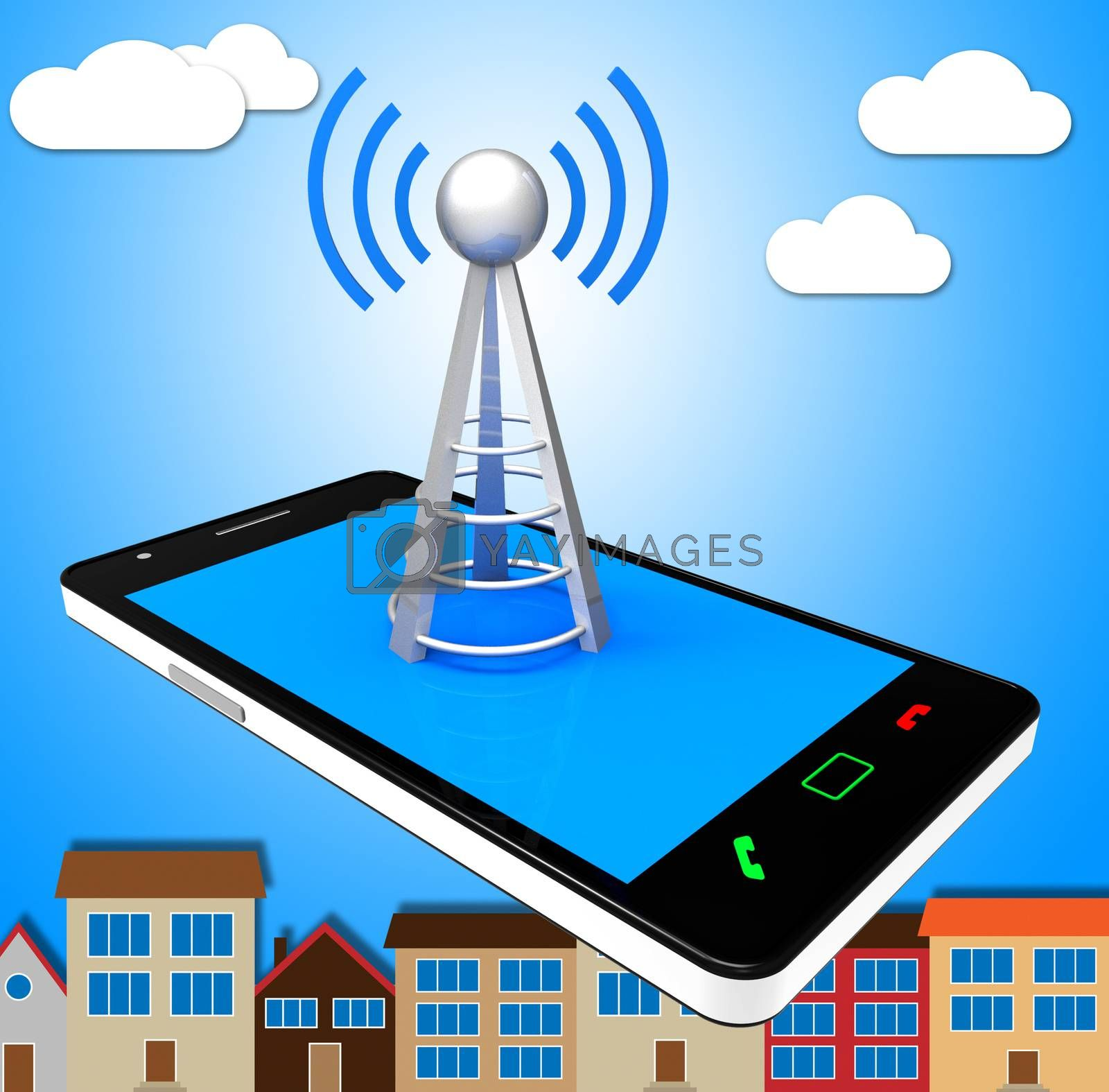Smartphone Wifi Means World Wide Web And Access by stuartmiles