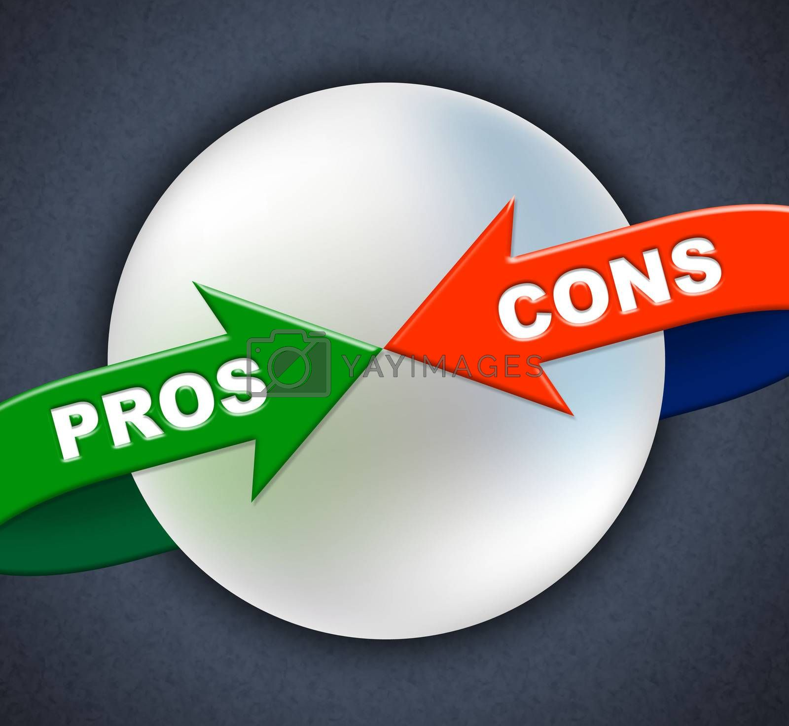 Pros Cons Arrows Shows All Right And Ok by stuartmiles