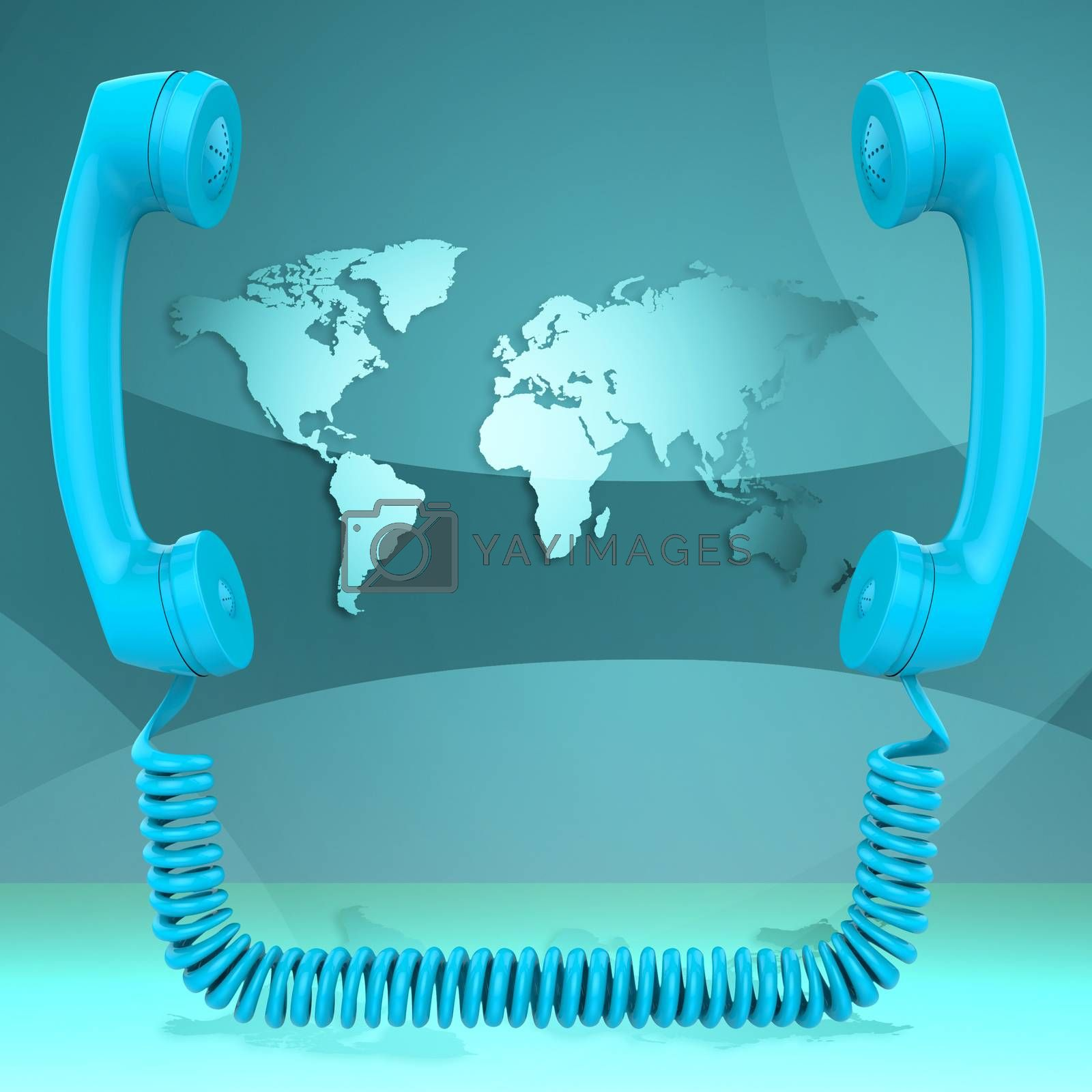 International Call Represents Globalisation Chat And Earth by stuartmiles