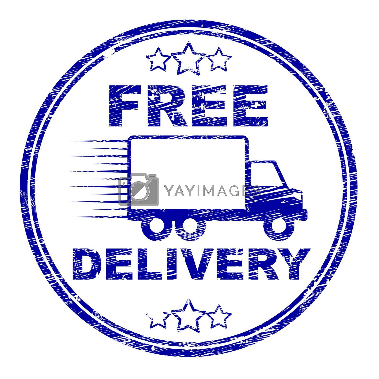 Free Delivery Stamp Represents With Our Compliments And Complimentary by stuartmiles